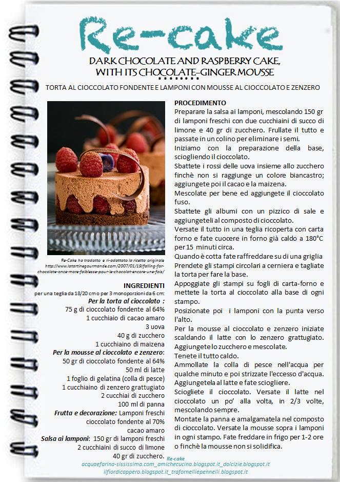 1601323_224502651069723_1330861916_n Torta al cioccolato fondente e lamponi con mousse al cioccolato e zenzero