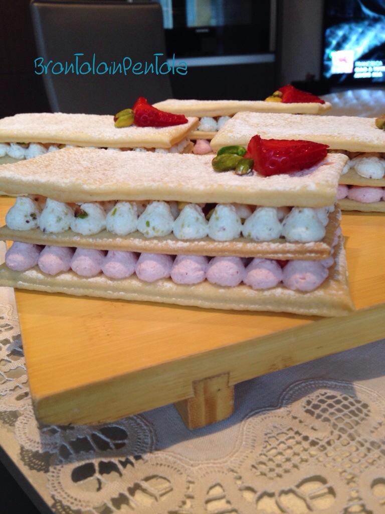 20140323-232309 Re-cake 6: Millefoglie con mousse di pistacchio e fragola