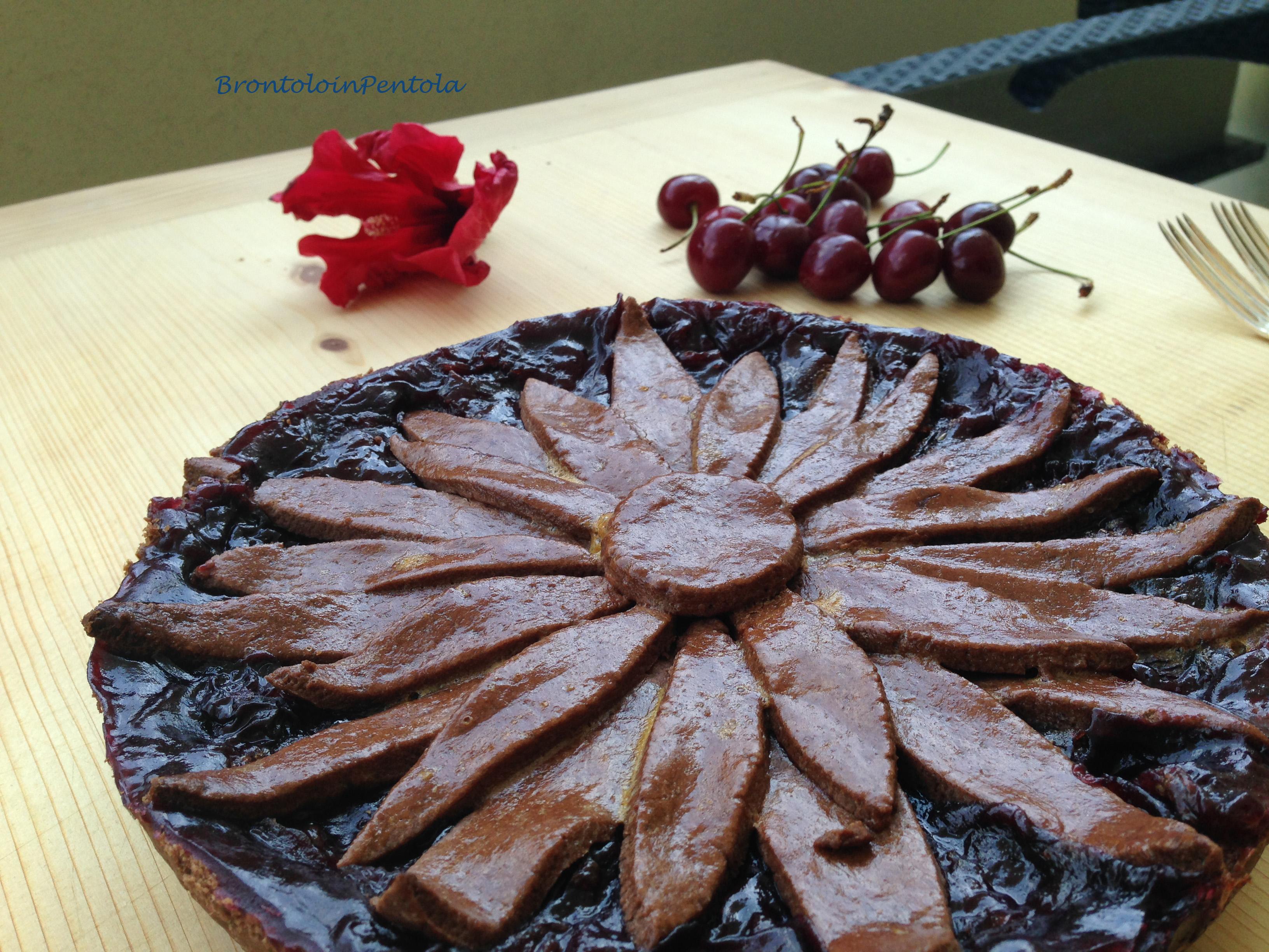 """img_2780 Balsamic Cherry pie with Black pepper & Cocoa crust (la mia """"non"""" Re-Cake!)"""