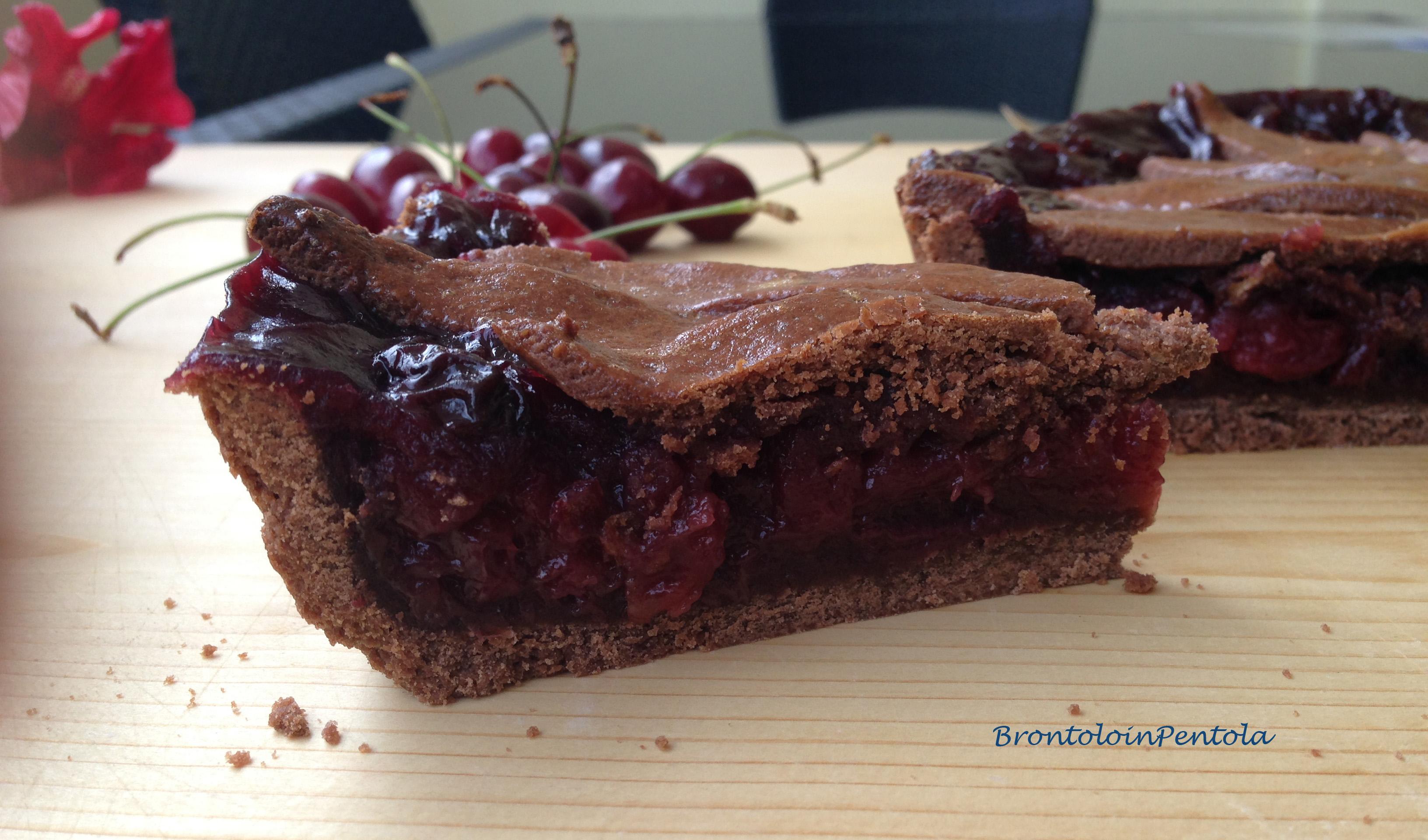 """img_2789 Balsamic Cherry pie with Black pepper & Cocoa crust (la mia """"non"""" Re-Cake!)"""