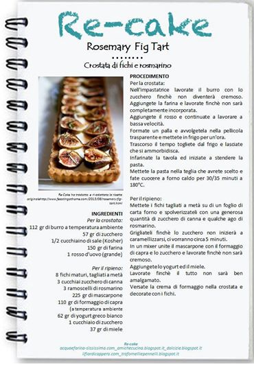 10403073_567519973376475_8819175609443268233_n RE-CAKE #11: la mia Rosemary Fig Tart