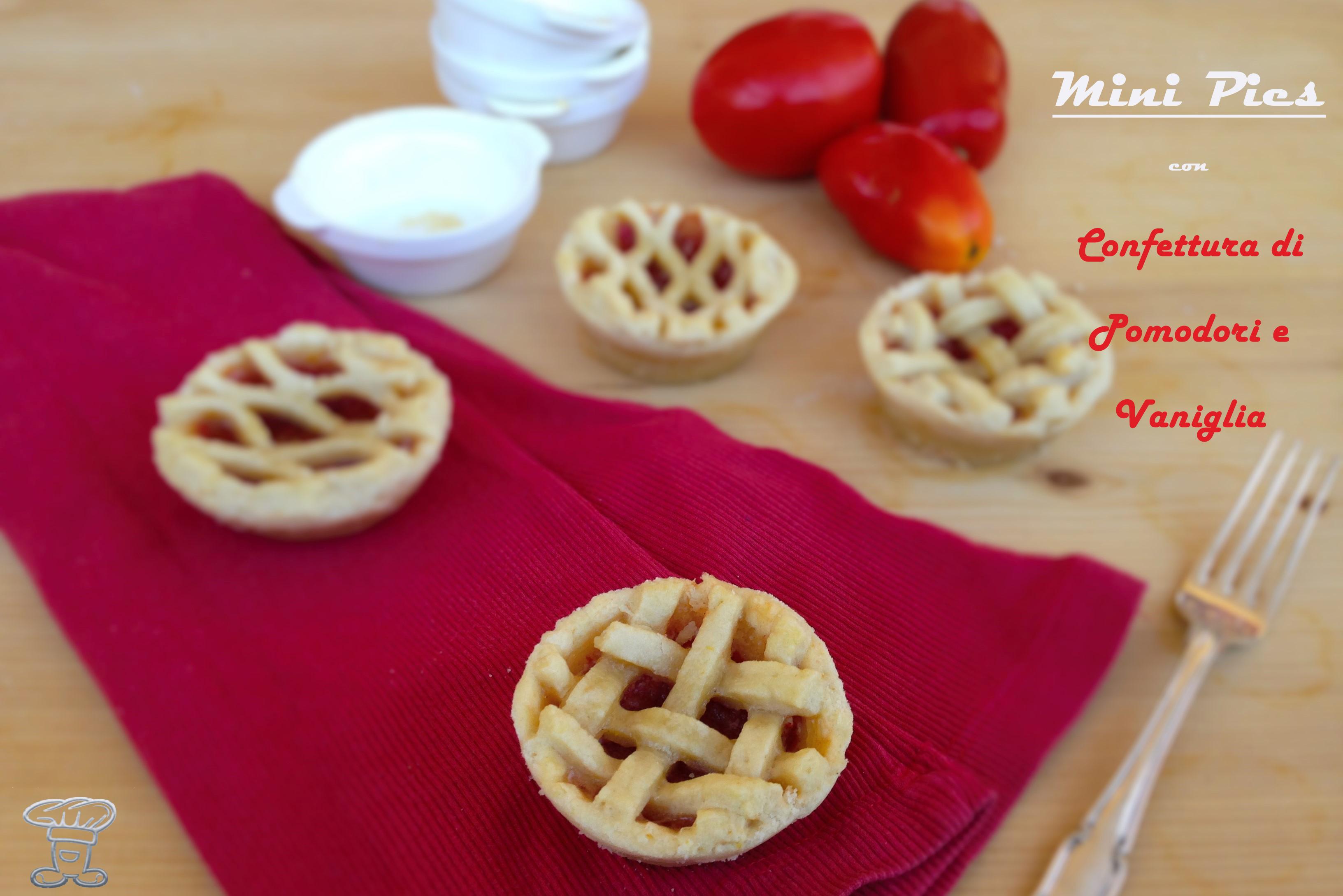 4024 Mini Pies con Confettura di Pomodori e Vaniglia