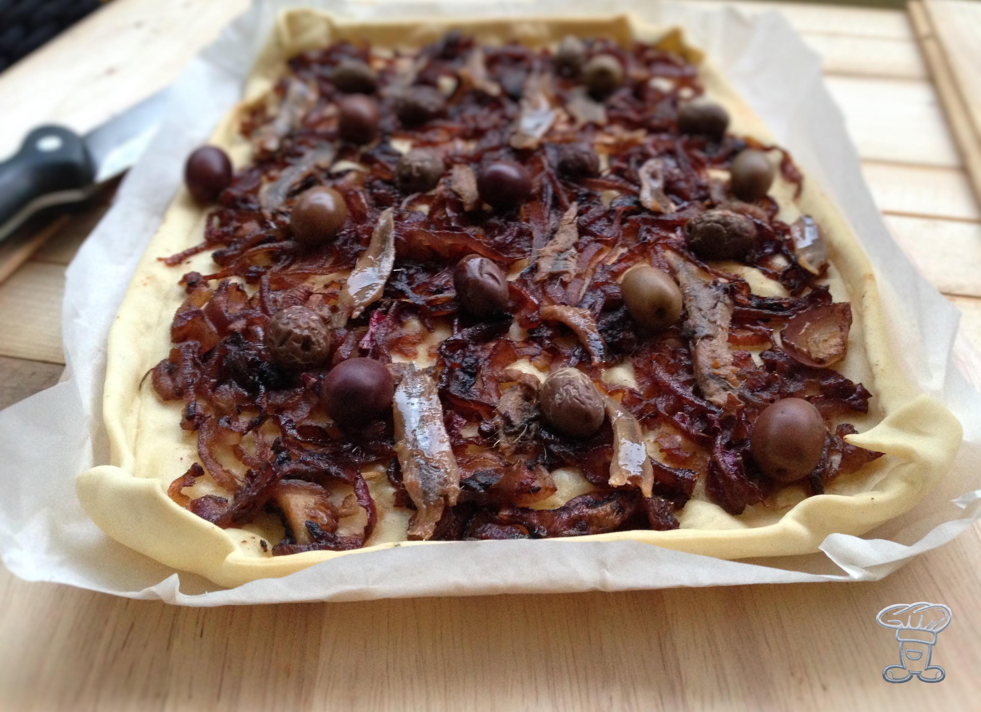 img_4448 Pissaladière con acciughe, cipolle ed olive nere
