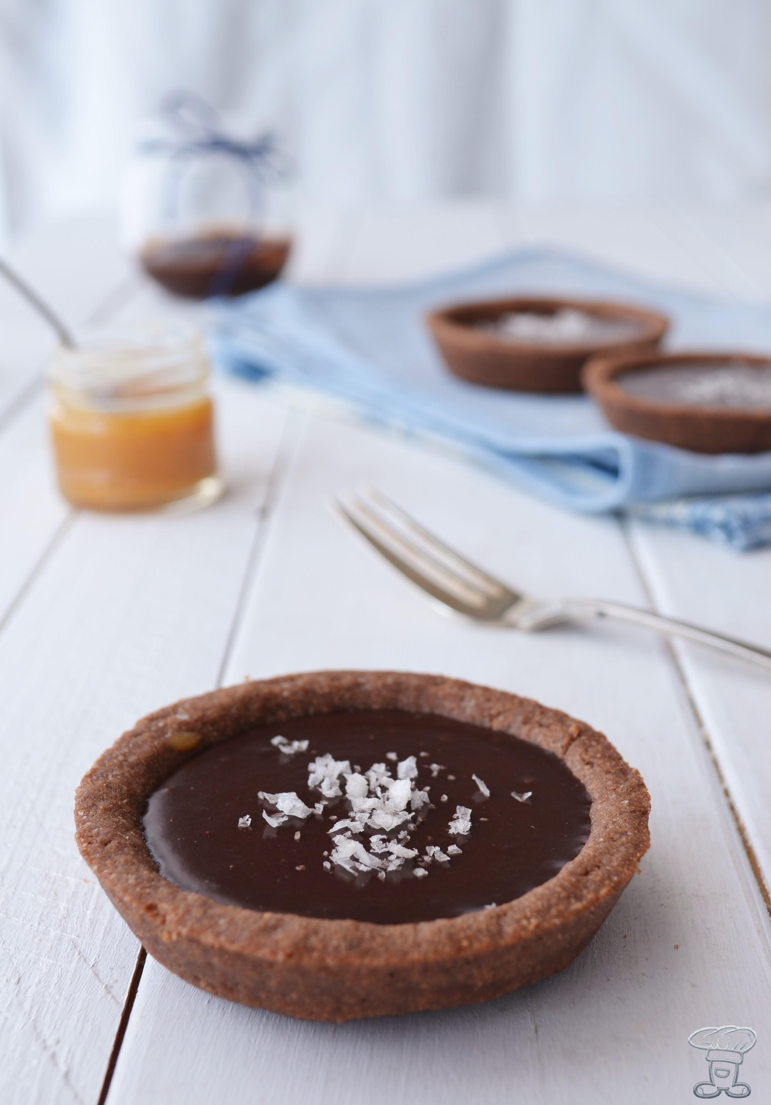 dsc_0267 Tartellettes al caramello salato e cioccolato fondente
