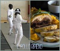 PicMonkey-Collage Pollo ripieno di Zucca, amaretti, lardo, finocchietto e Salsa al cacao