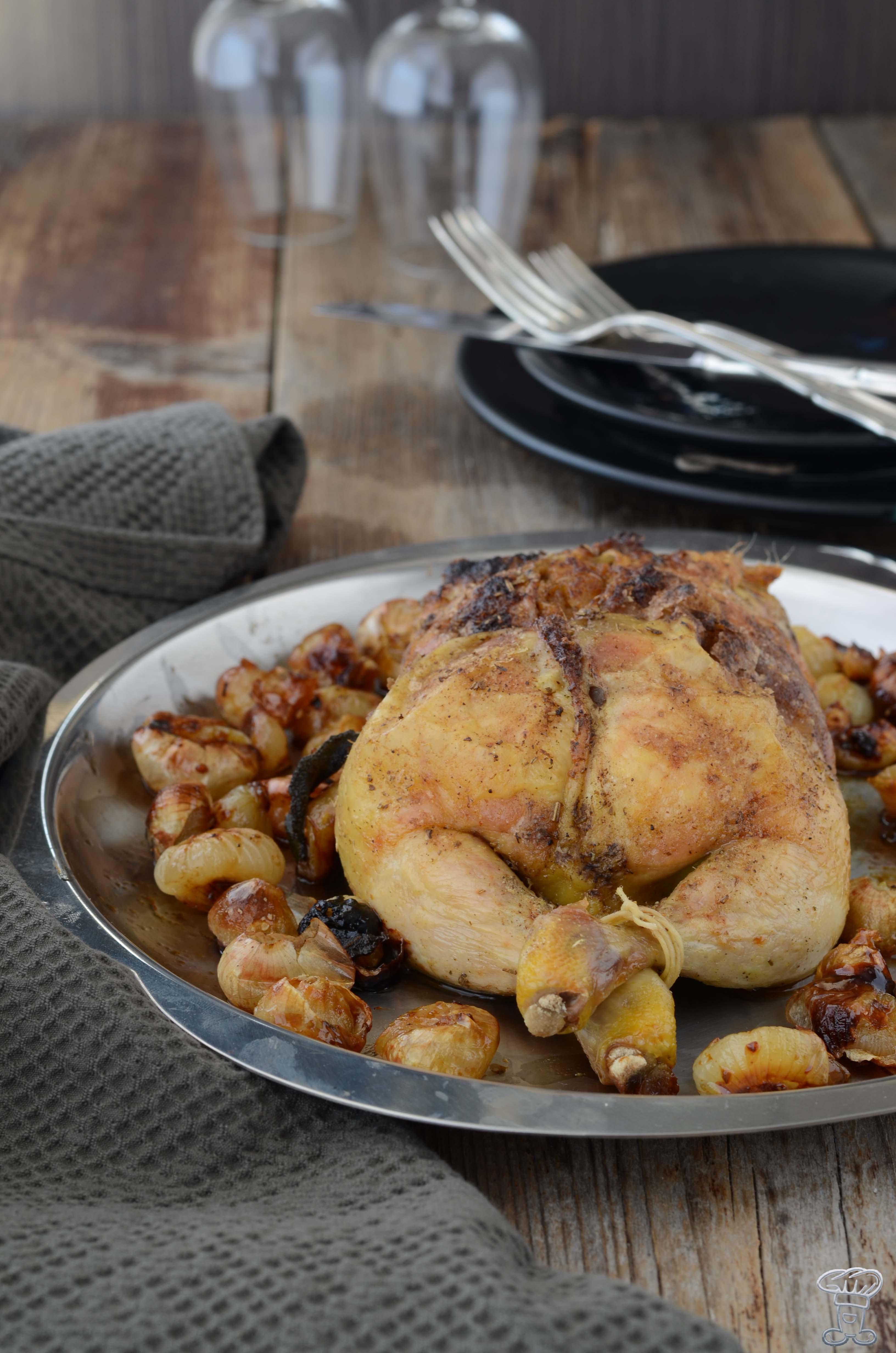 pollo-ripieno-3 Pollo ripieno di Zucca, amaretti, lardo, finocchietto e Salsa al cacao