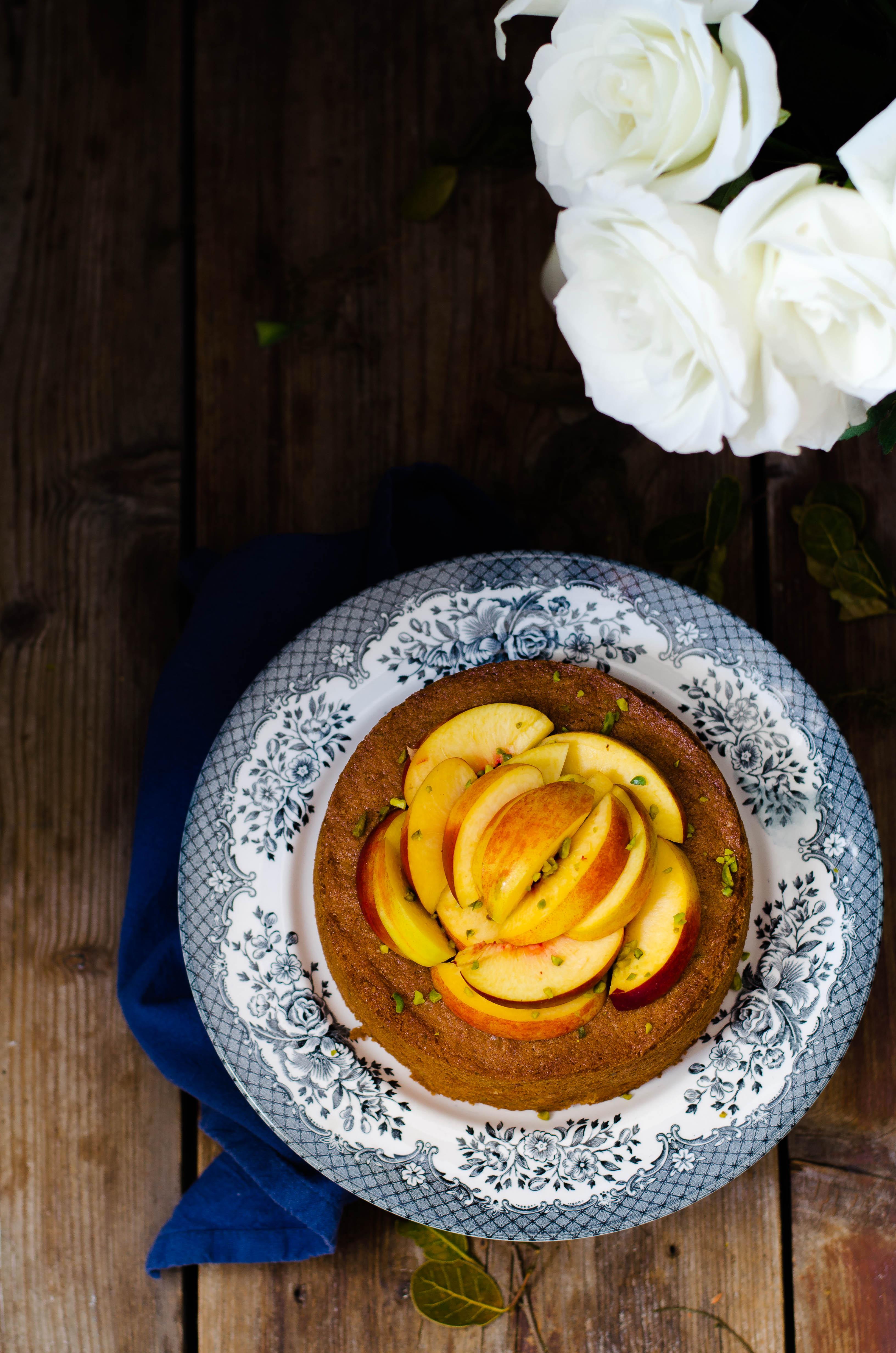 torta_pesche_pistacchi2 Torta di pesche e pistacchi