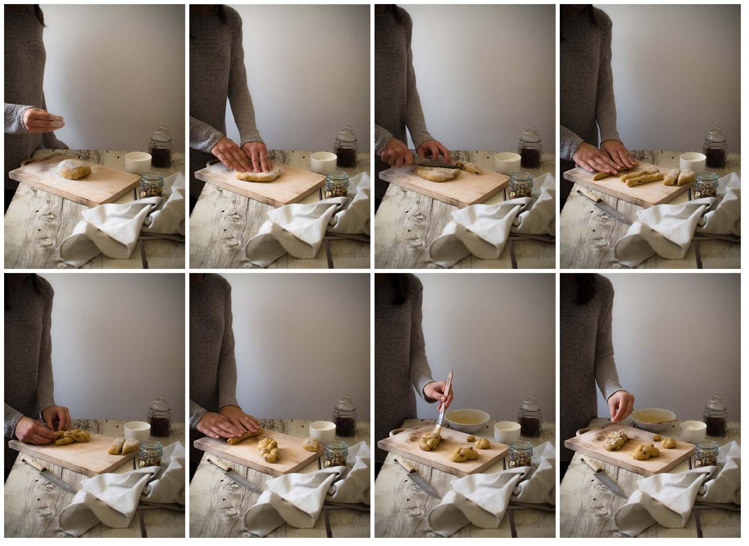 brioche_amaretto_molinoquaglia_s Brioche intrecciate con amaretti, mandorle ed uvetta