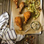 Pollo fritto croccante con nocciole, spezie e Rhum