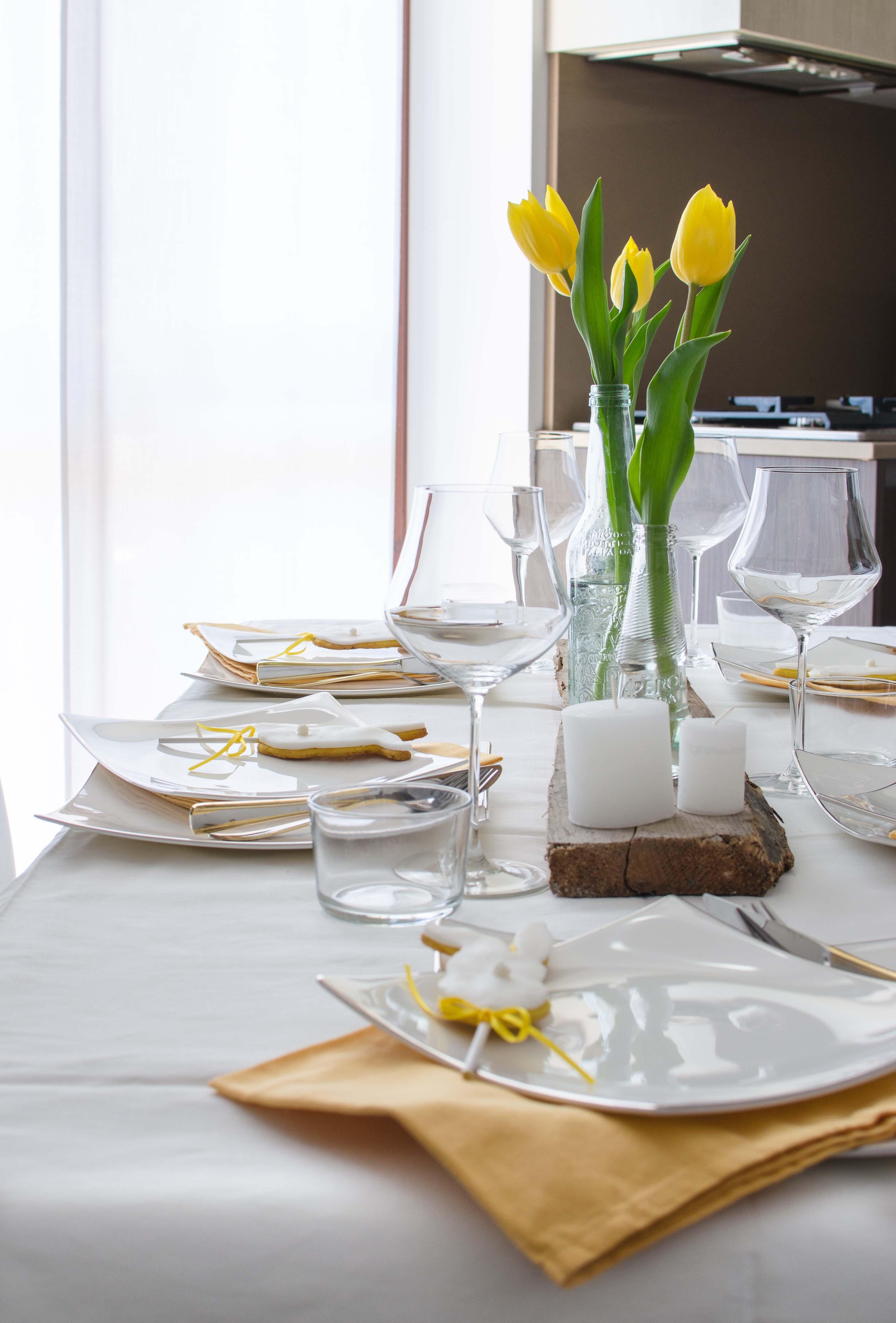 tavola_pasqua1 La mia tavola bianca e gialla