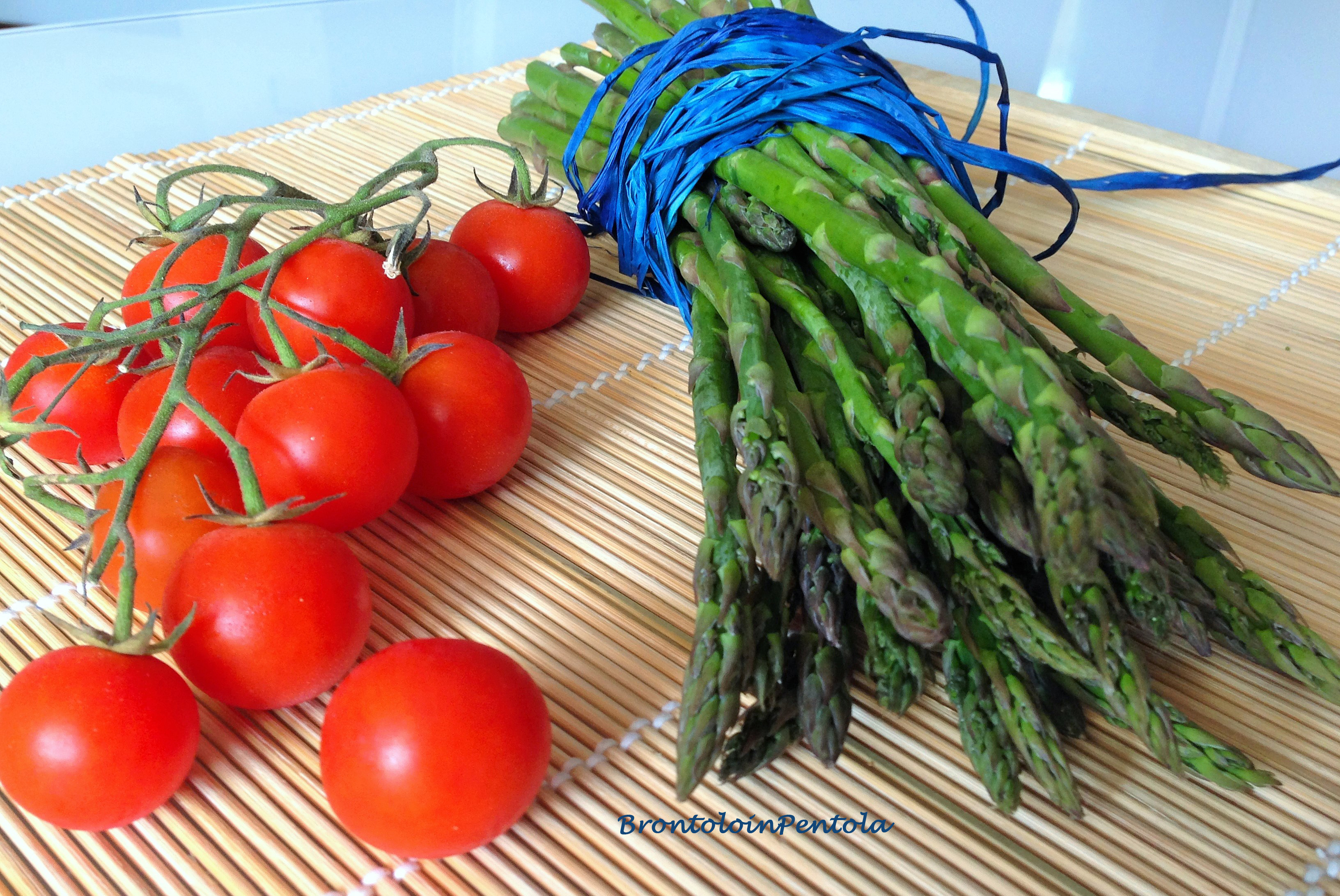 img_2717 Gnocchi alle erbe aromatiche con pomodori pachino ed asparagi