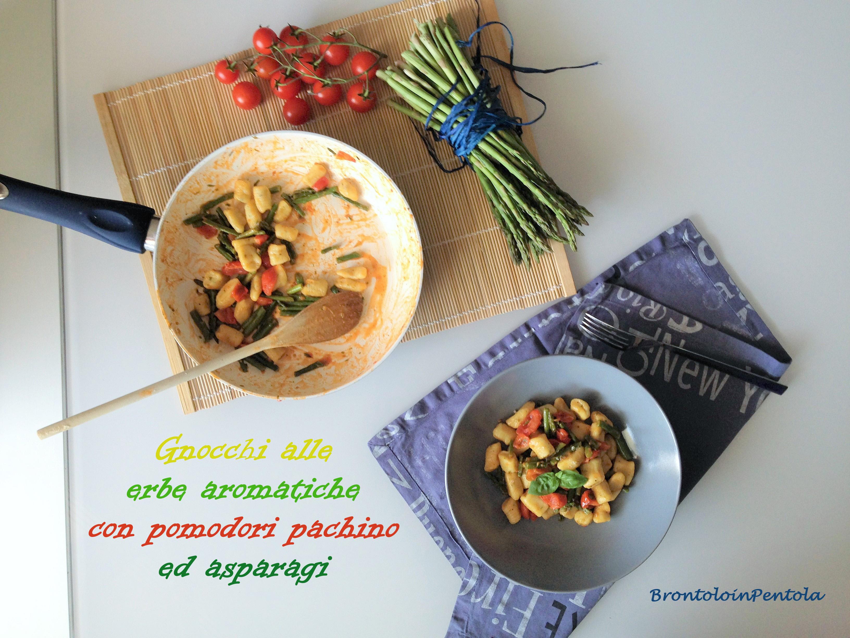 img_27231 Gnocchi alle erbe aromatiche con pomodori pachino ed asparagi