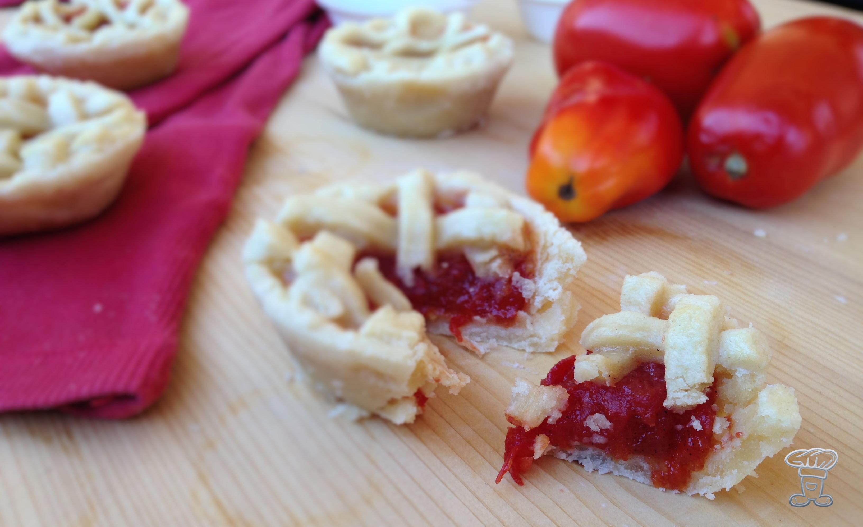 img_4029 Mini Pies con Confettura di Pomodori e Vaniglia