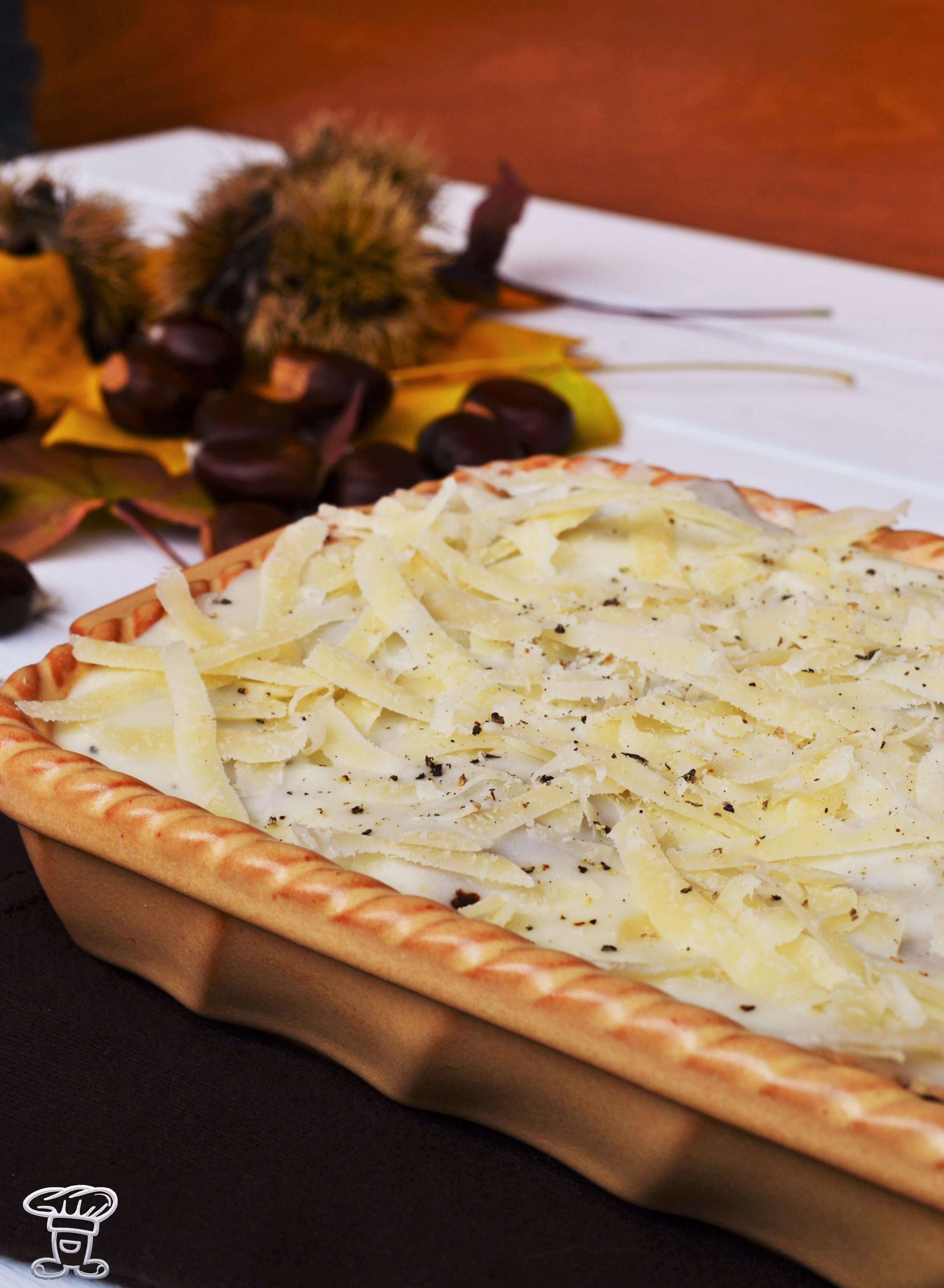 dsc_04191 Lasagne alle Castagne, crema al Taleggio e Funghi