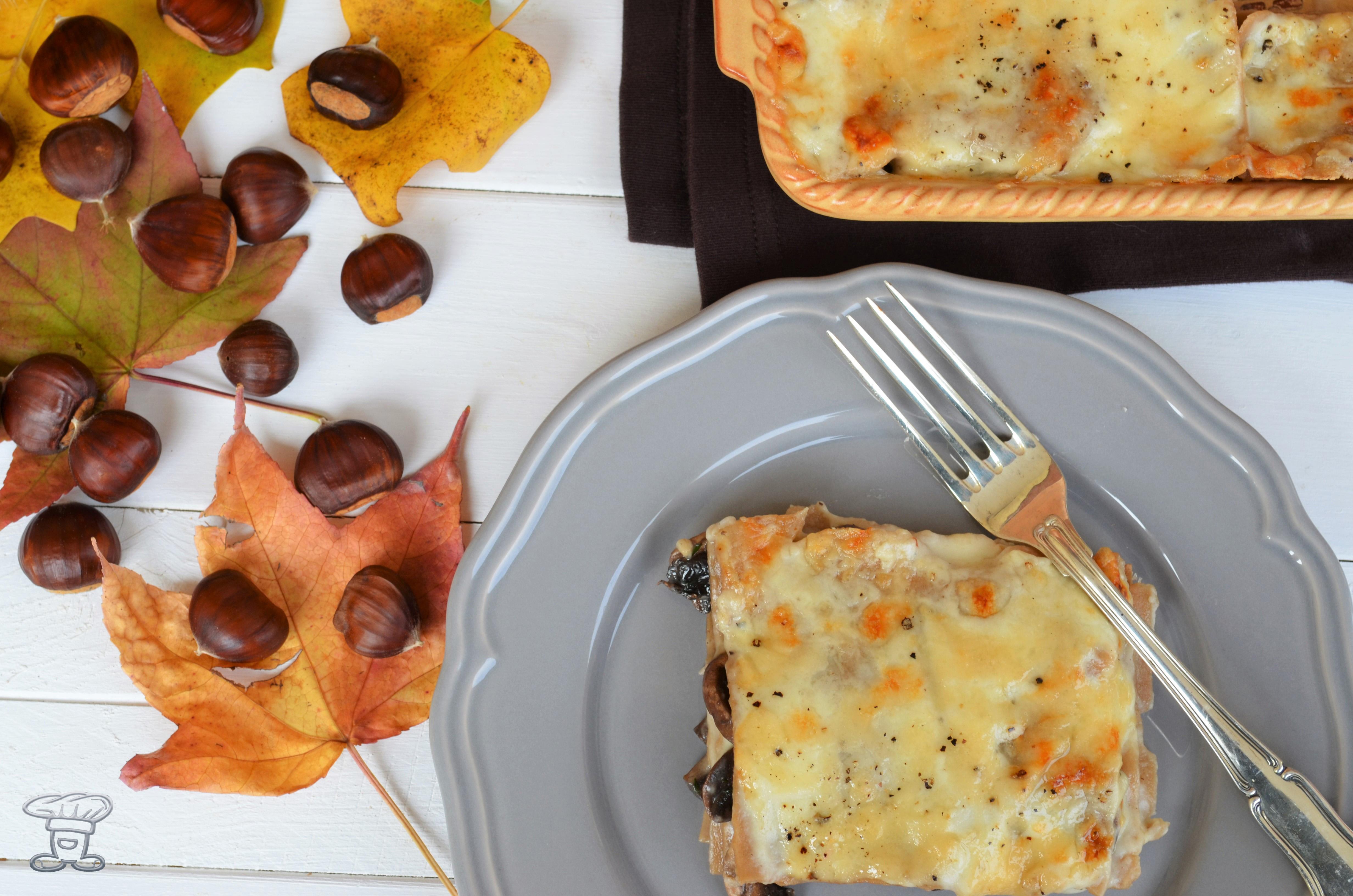 dsc_0472 Lasagne alle Castagne, crema al Taleggio e Funghi