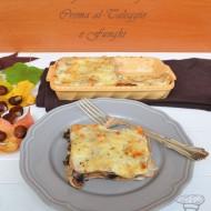 Lasagne alle Castagne, crema al Taleggio e Funghi