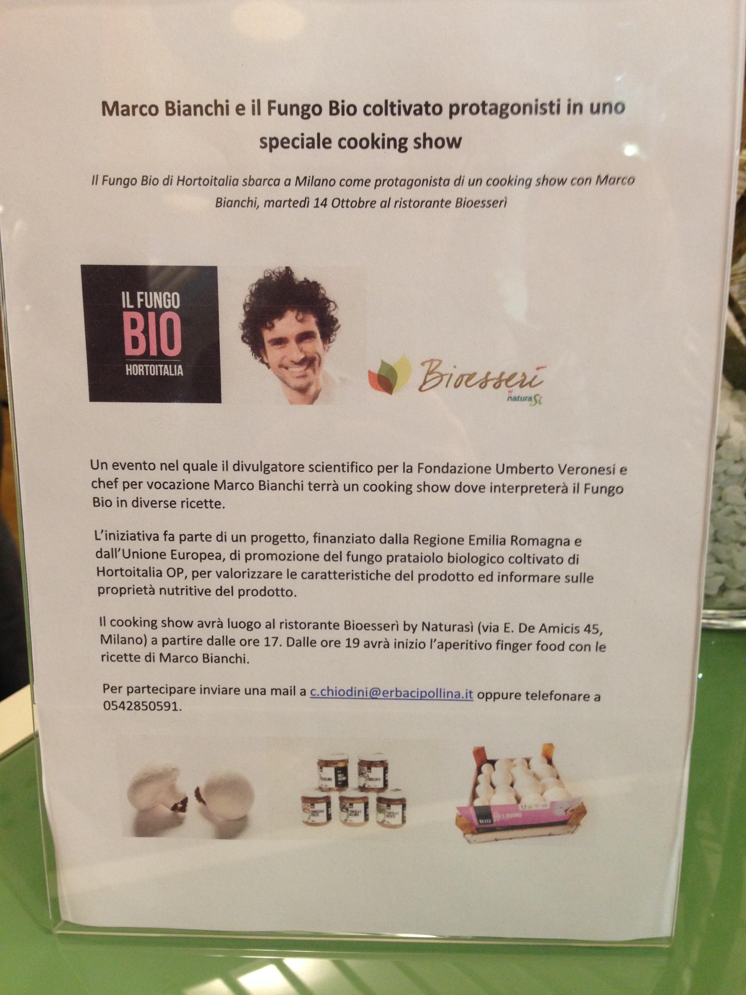 img_4901 Tartellette di cavolfiore con Fungo Bio e lo Show cooking di Marco Bianchi