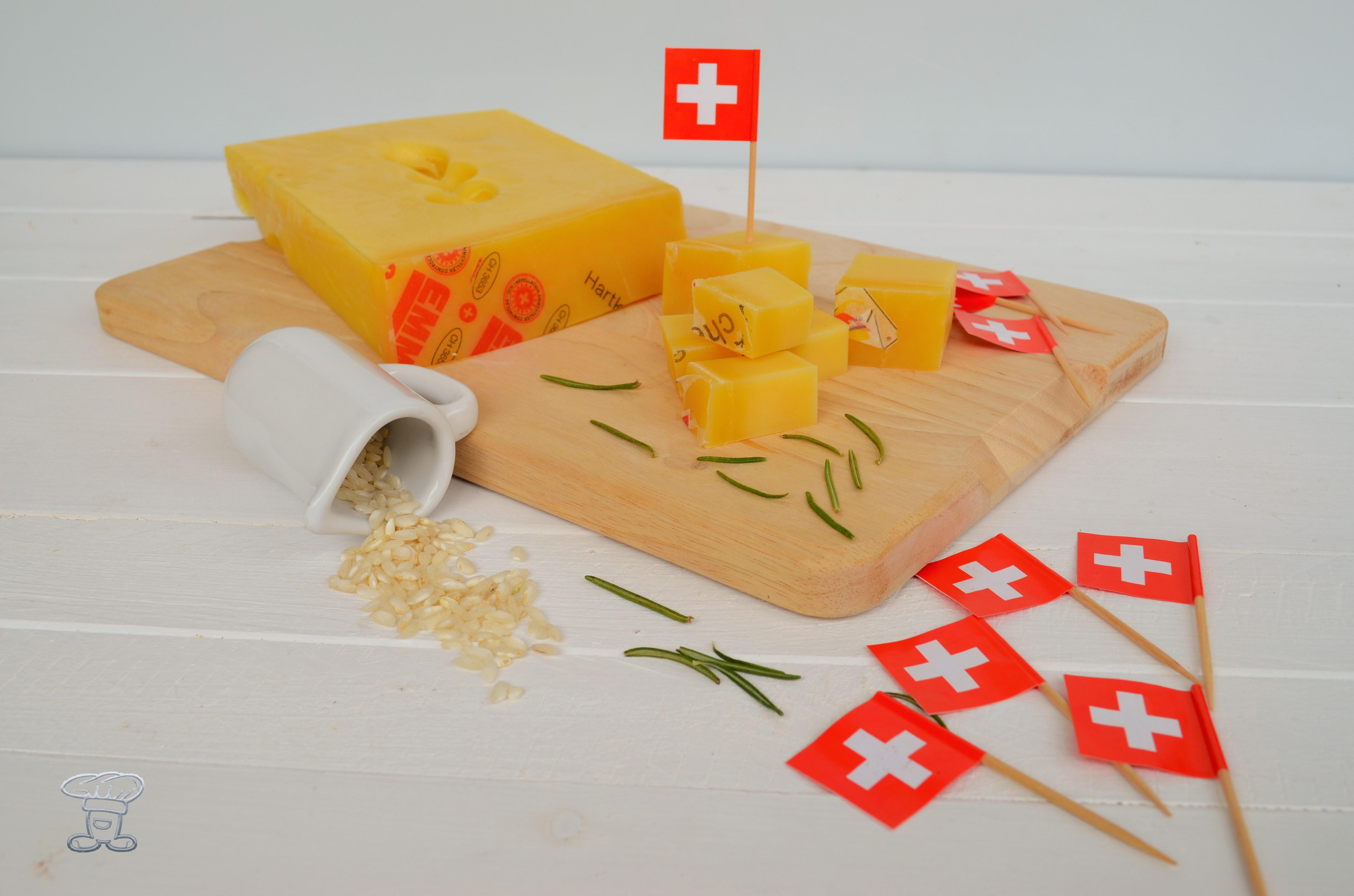 dsc_0560 Polpette di riso con Emmentaler DOP e Pancetta croccante