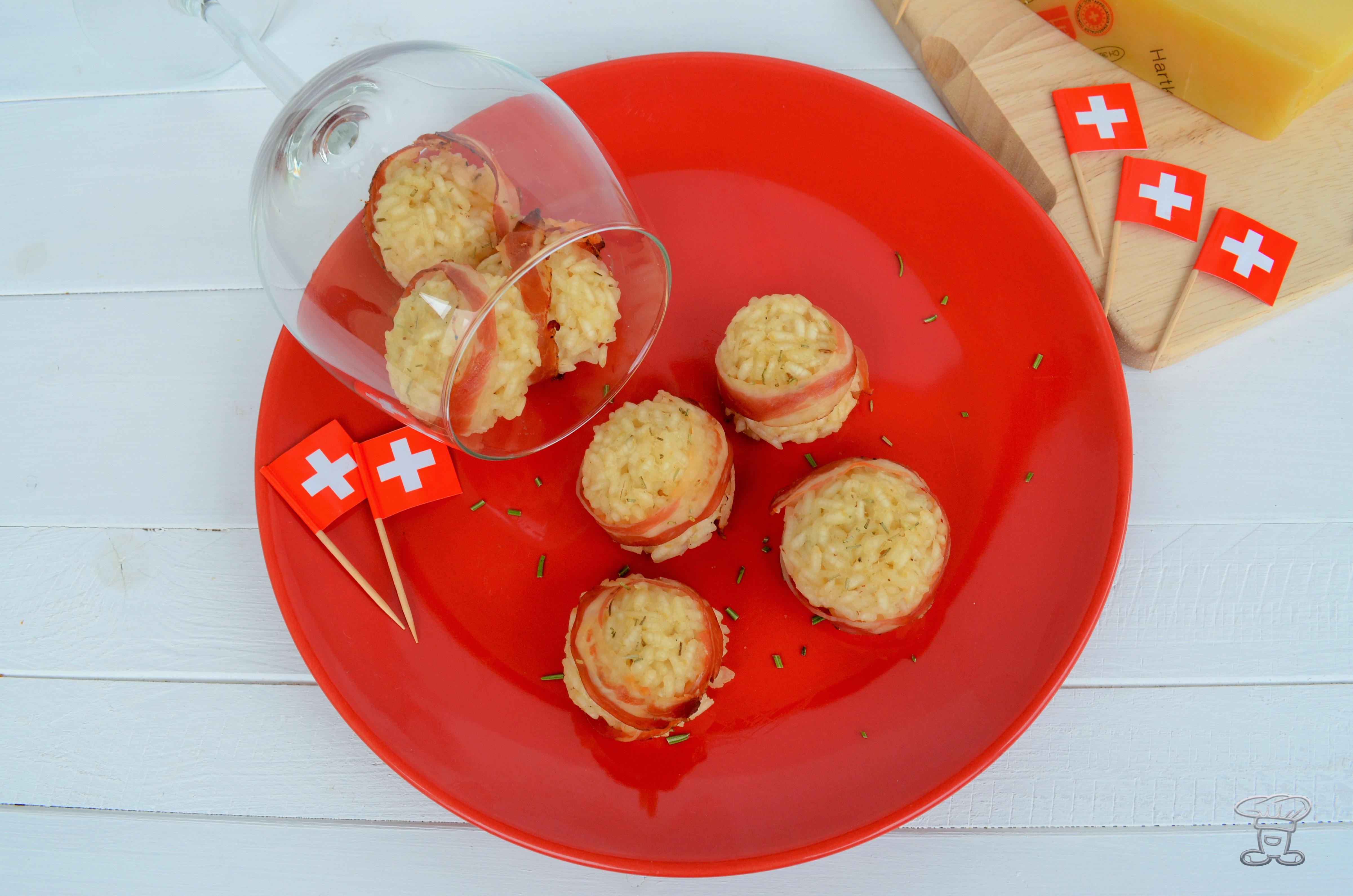 dsc_0568 Polpette di riso con Emmentaler DOP e Pancetta croccante