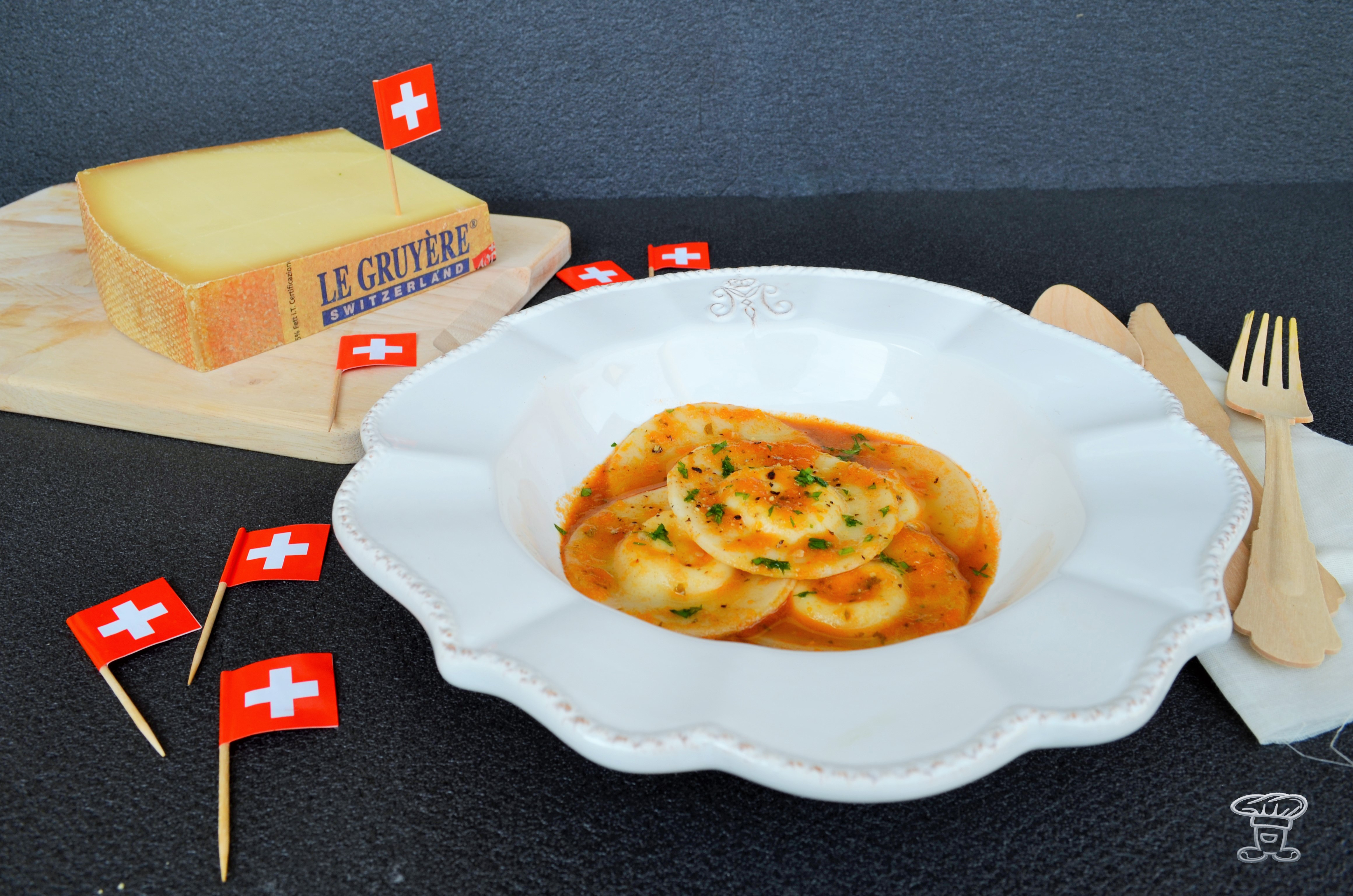 dsc_0603 Ravioli di Riso ripieni di Gruyère DOP e salsa ai Gamberi