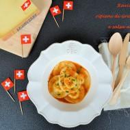 Ravioli di Riso ripieni di Gruyère DOP e salsa ai Gamberi