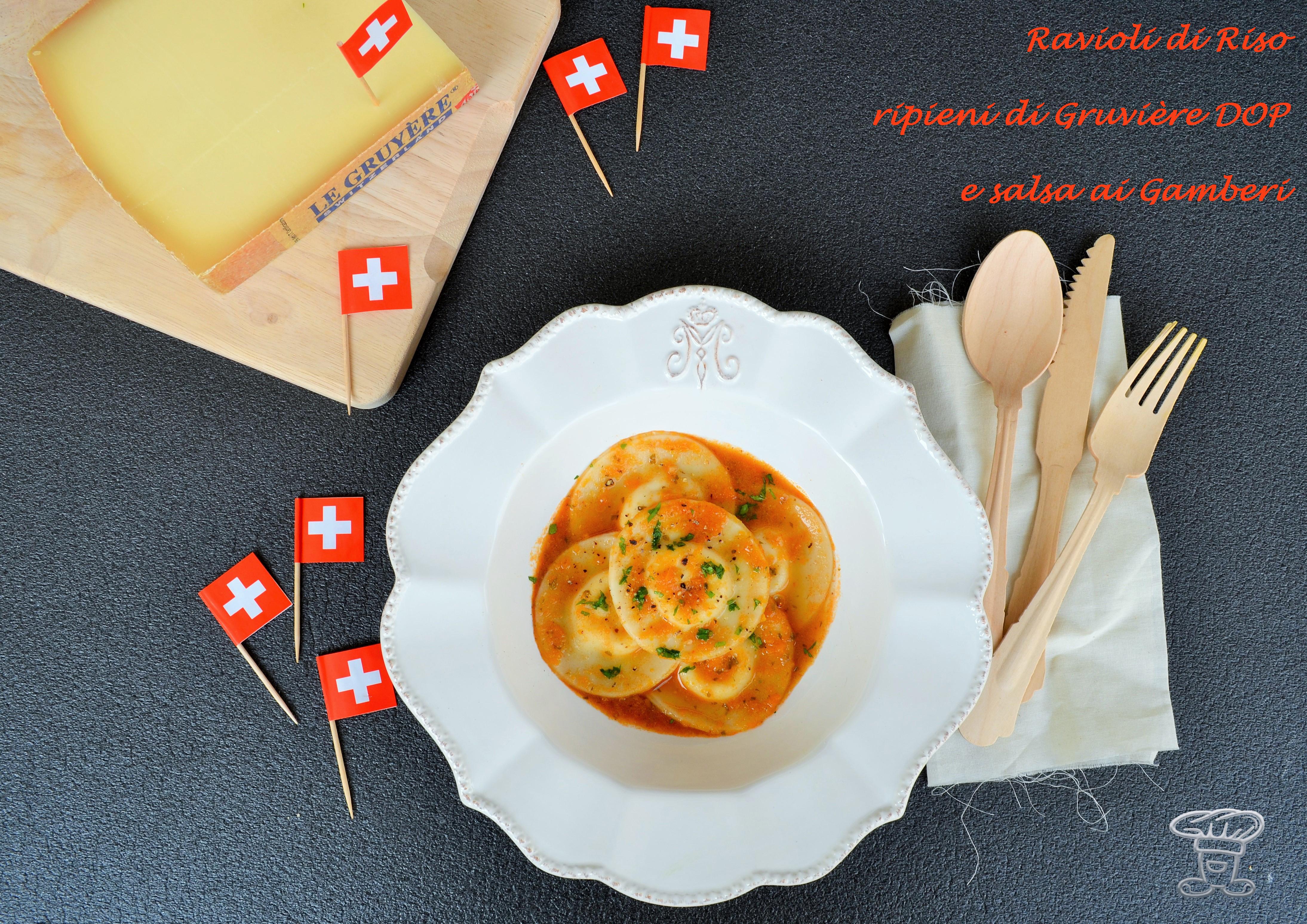 dsc_0608 Ravioli di Riso ripieni di Gruyère DOP e salsa ai Gamberi