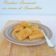 Paccheri croccanti su crema di Cannellini