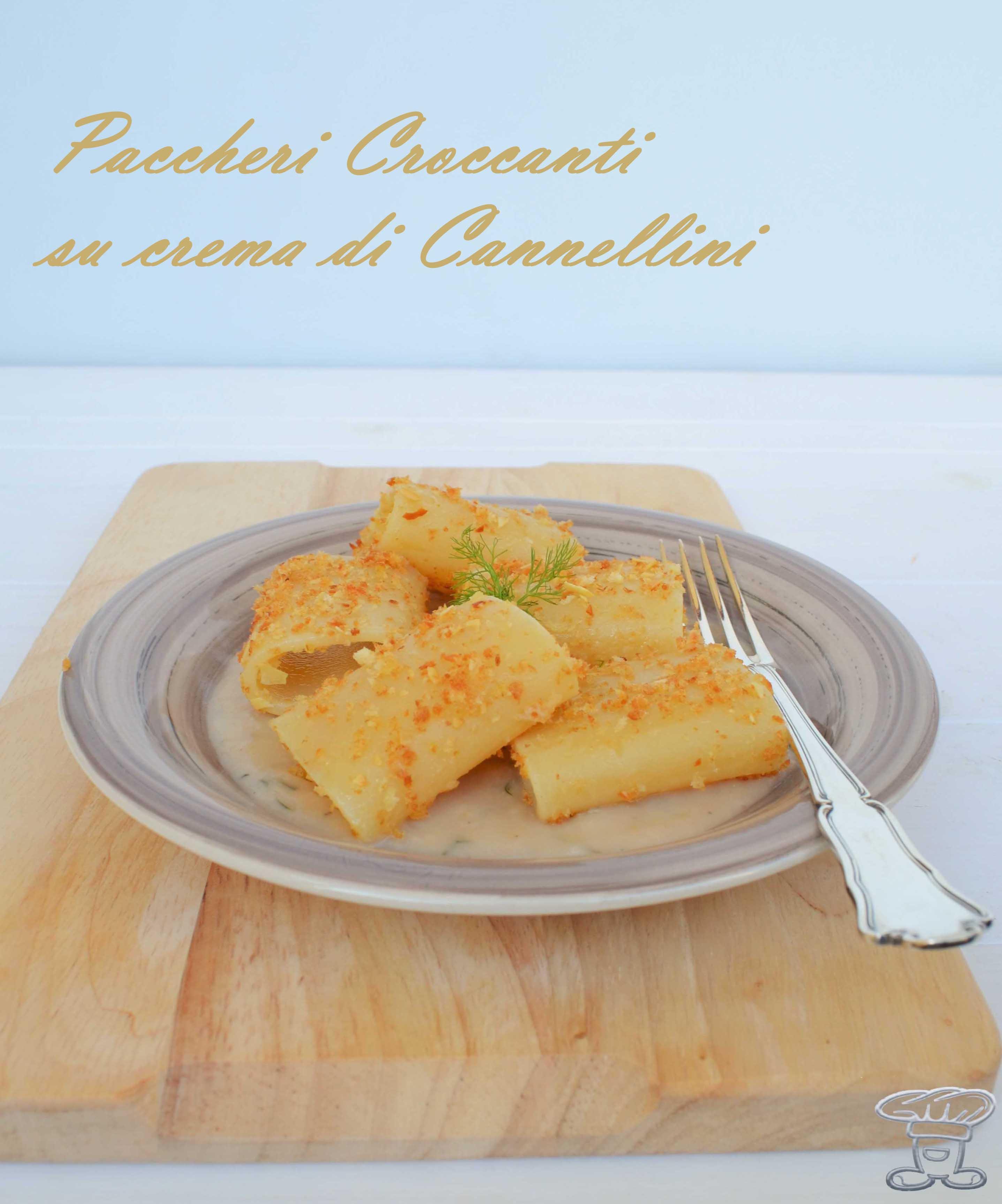dsc_0676 Paccheri croccanti su crema di Cannellini