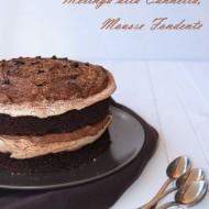 Torta al Cacao, Meringa alla cannella, Mousse fondente