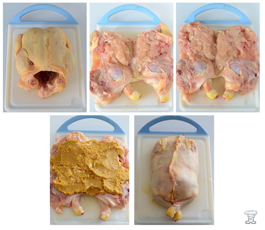POLLO-MTC Pollo ripieno di Zucca, amaretti, lardo, finocchietto e Salsa al cacao