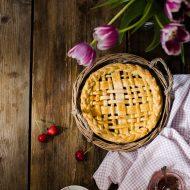 Pie integrale con confettura di ciliegie
