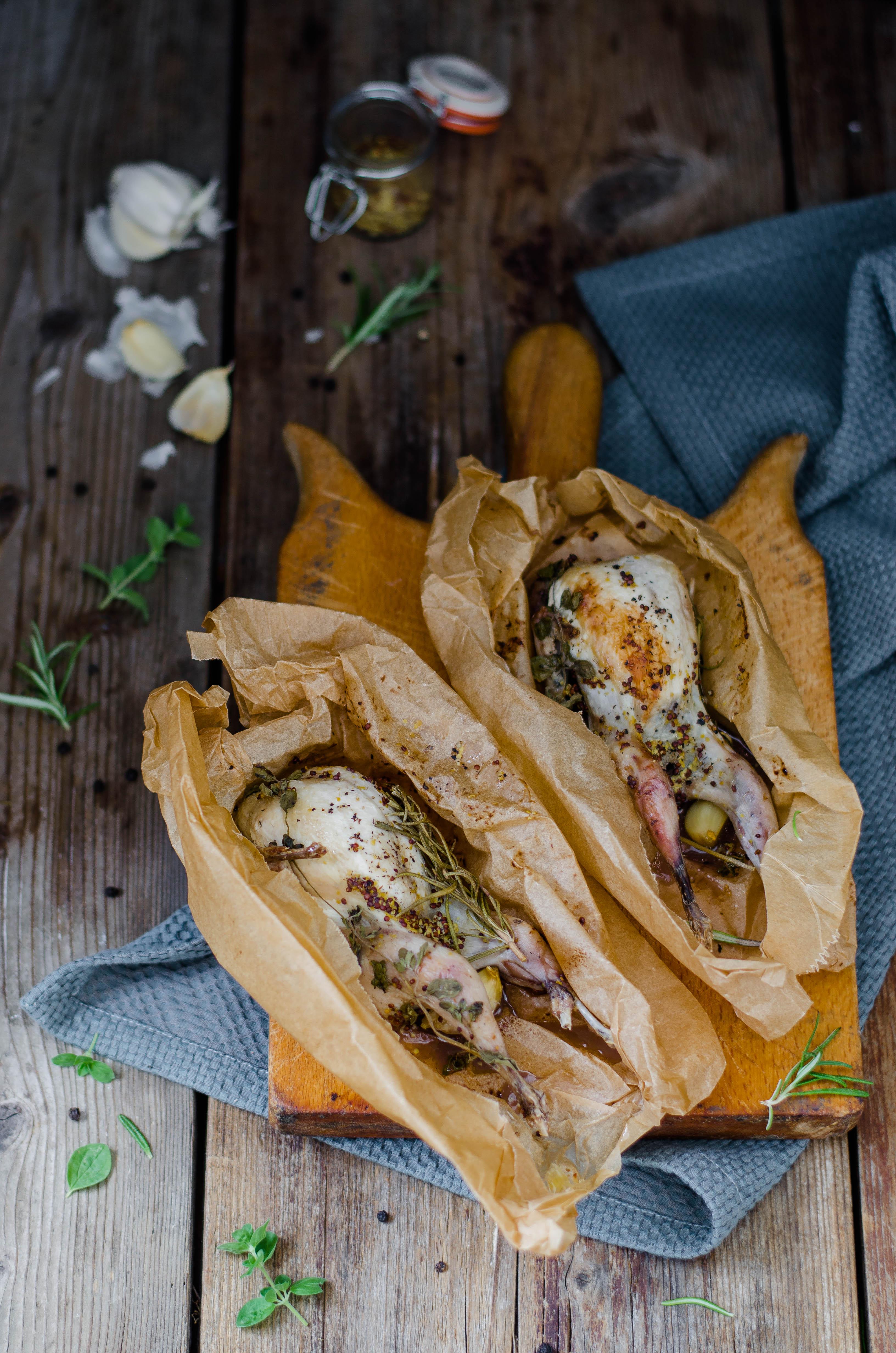 quaglie_senape_frutta2 Quaglie al cartoccio con senape e frutta