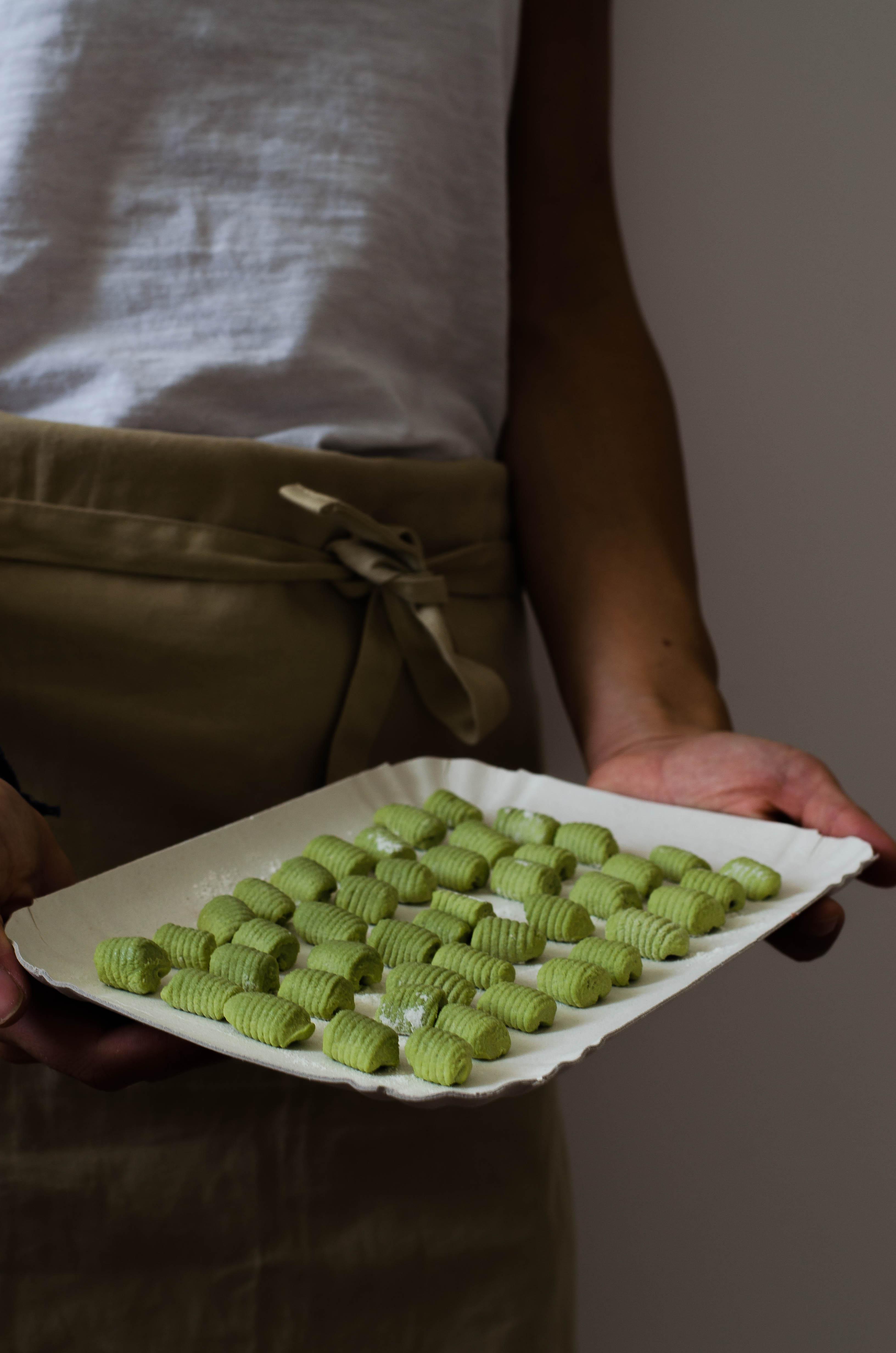 gnocchi_matcha Gnocchi al Matcha, crema di zucca e paprika