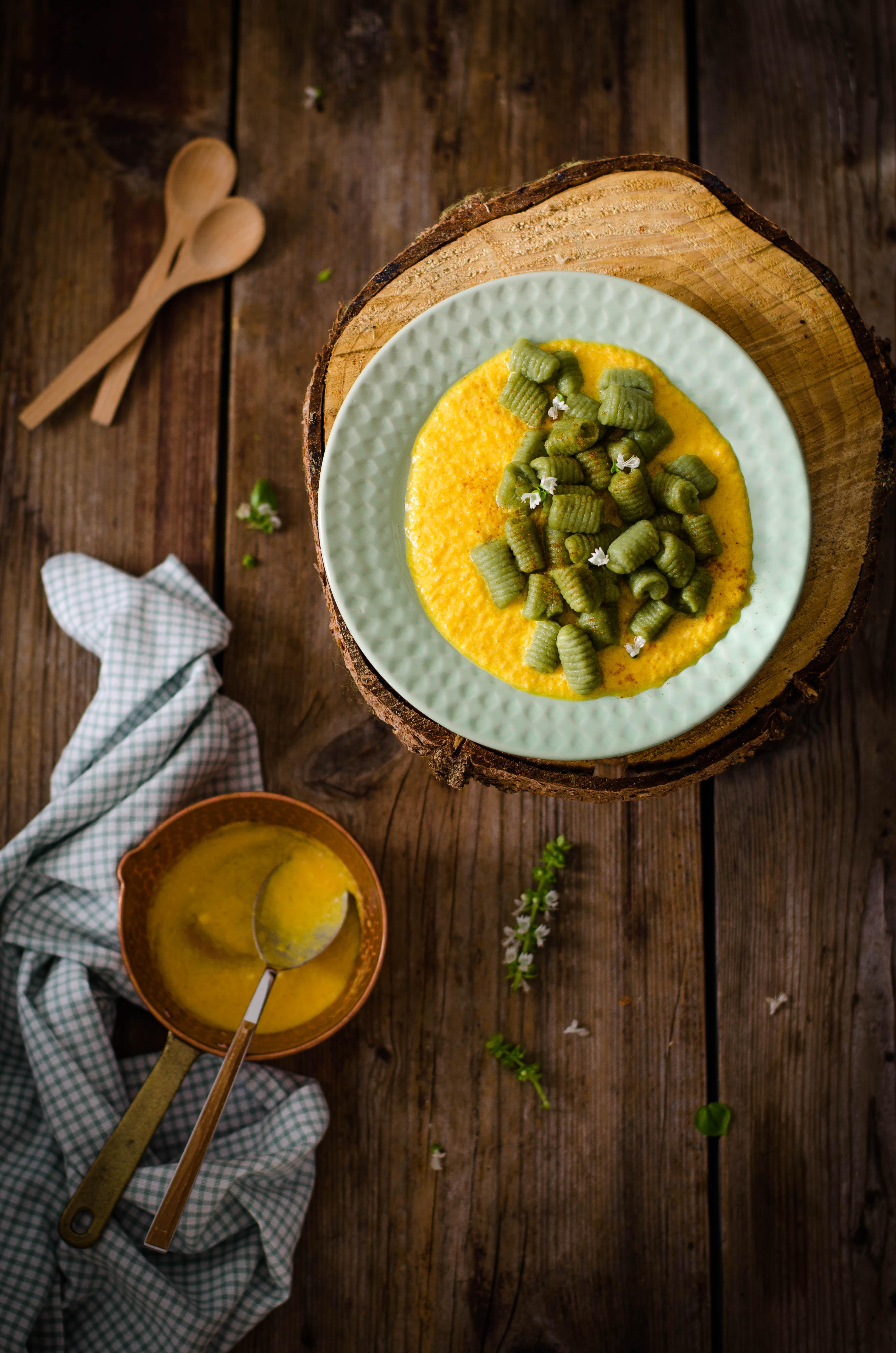 gnocchi_matcha2 Gnocchi al Matcha, crema di zucca e paprika
