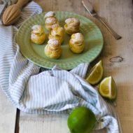 Bignè con crema al lime e meringa