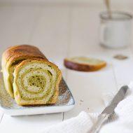 Pan brioche al cioccolato bianco e Matcha