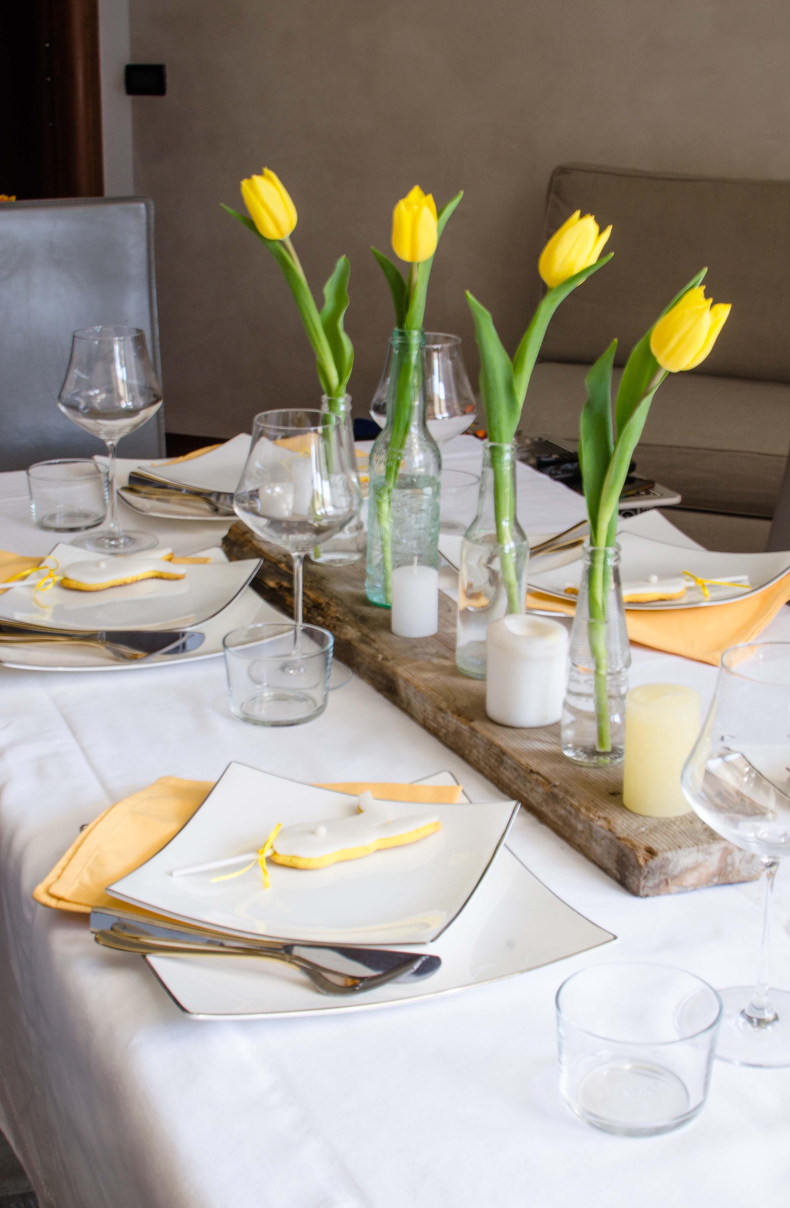 tavola_pasqua4 La mia tavola bianca e gialla