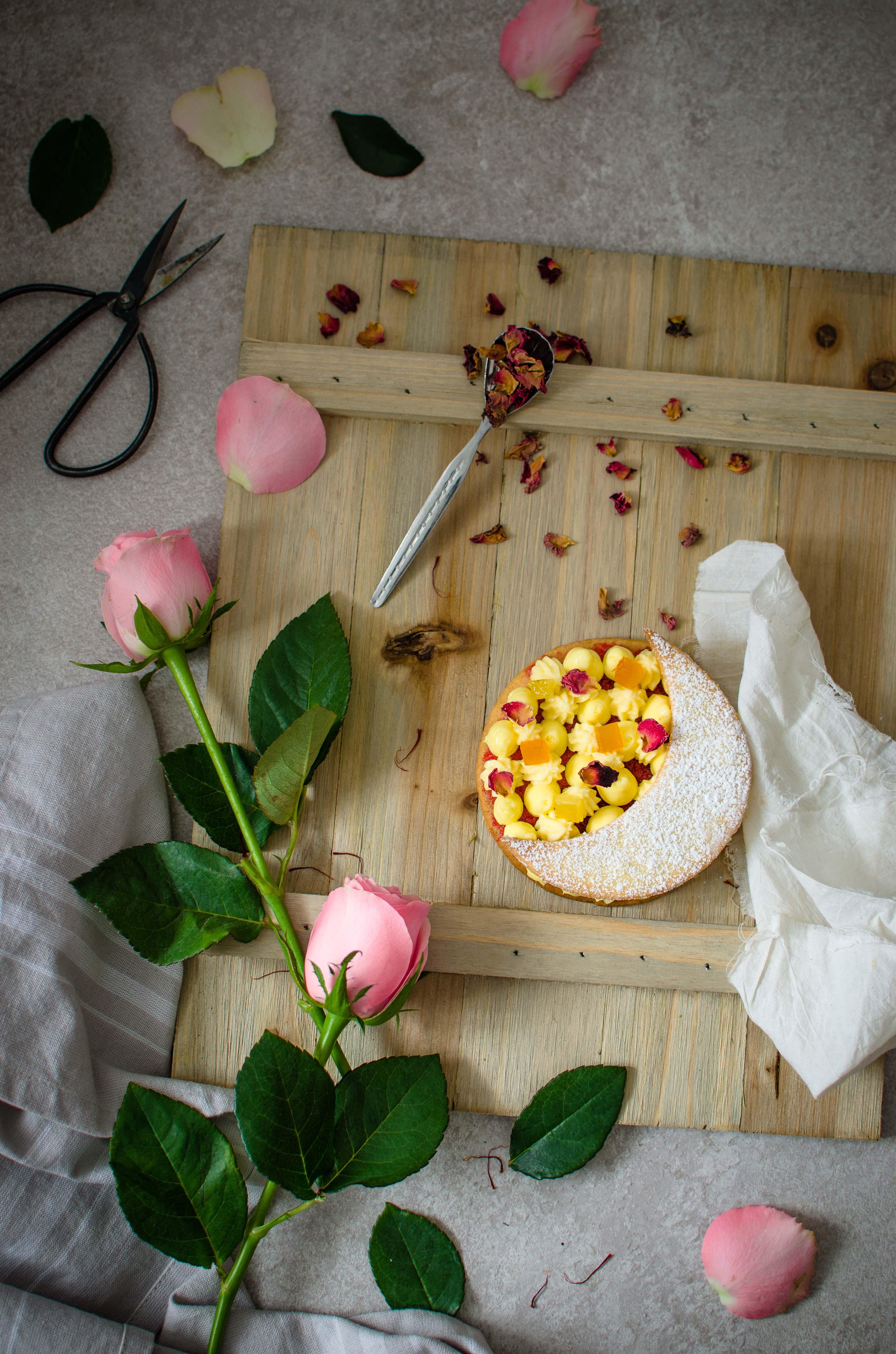 zafferano_agrumi_rosa2 Tartelette zafferano, agrumi e rose