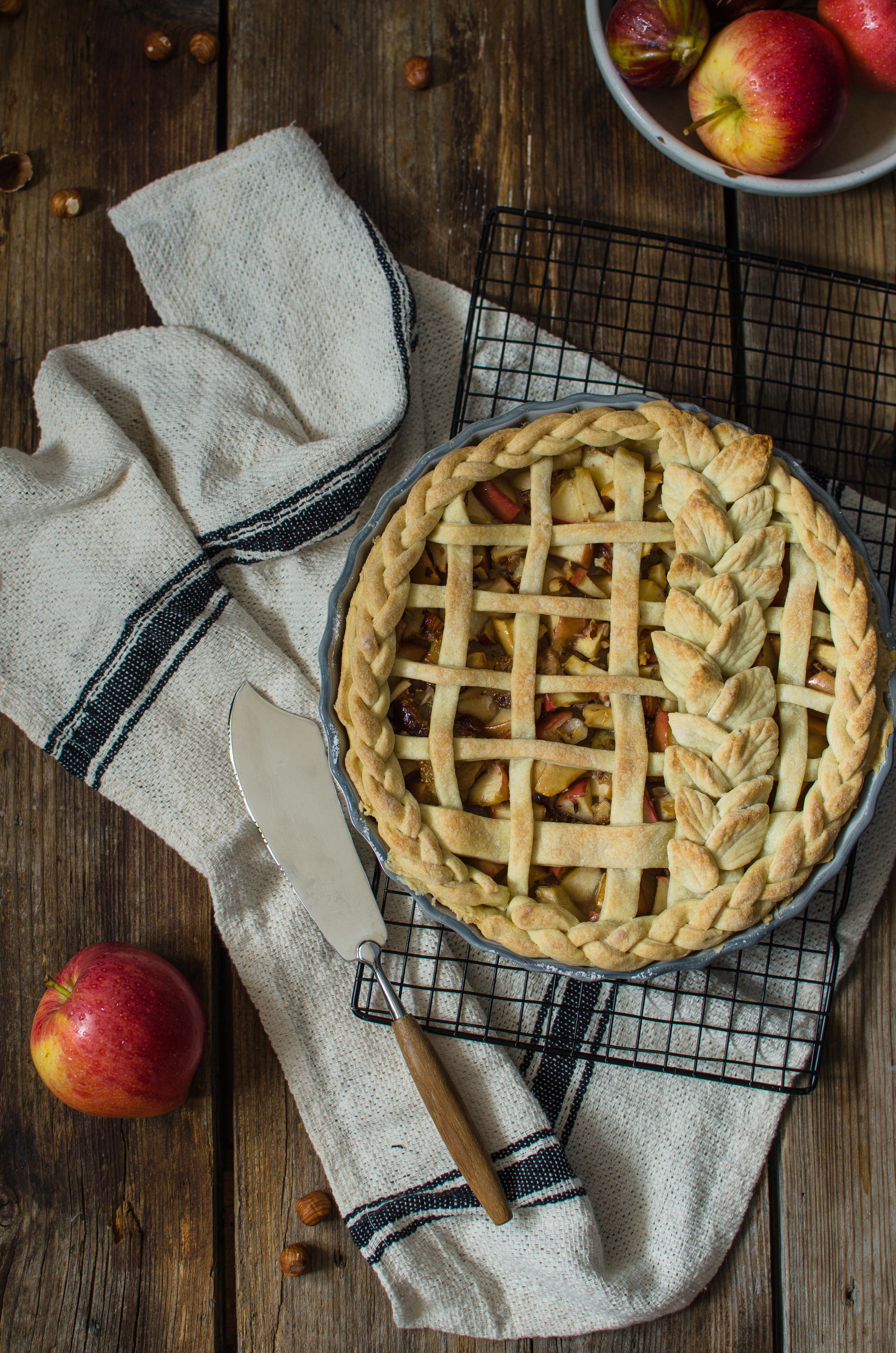 torta_mele_fichi Pie mele, fichi e nocciole