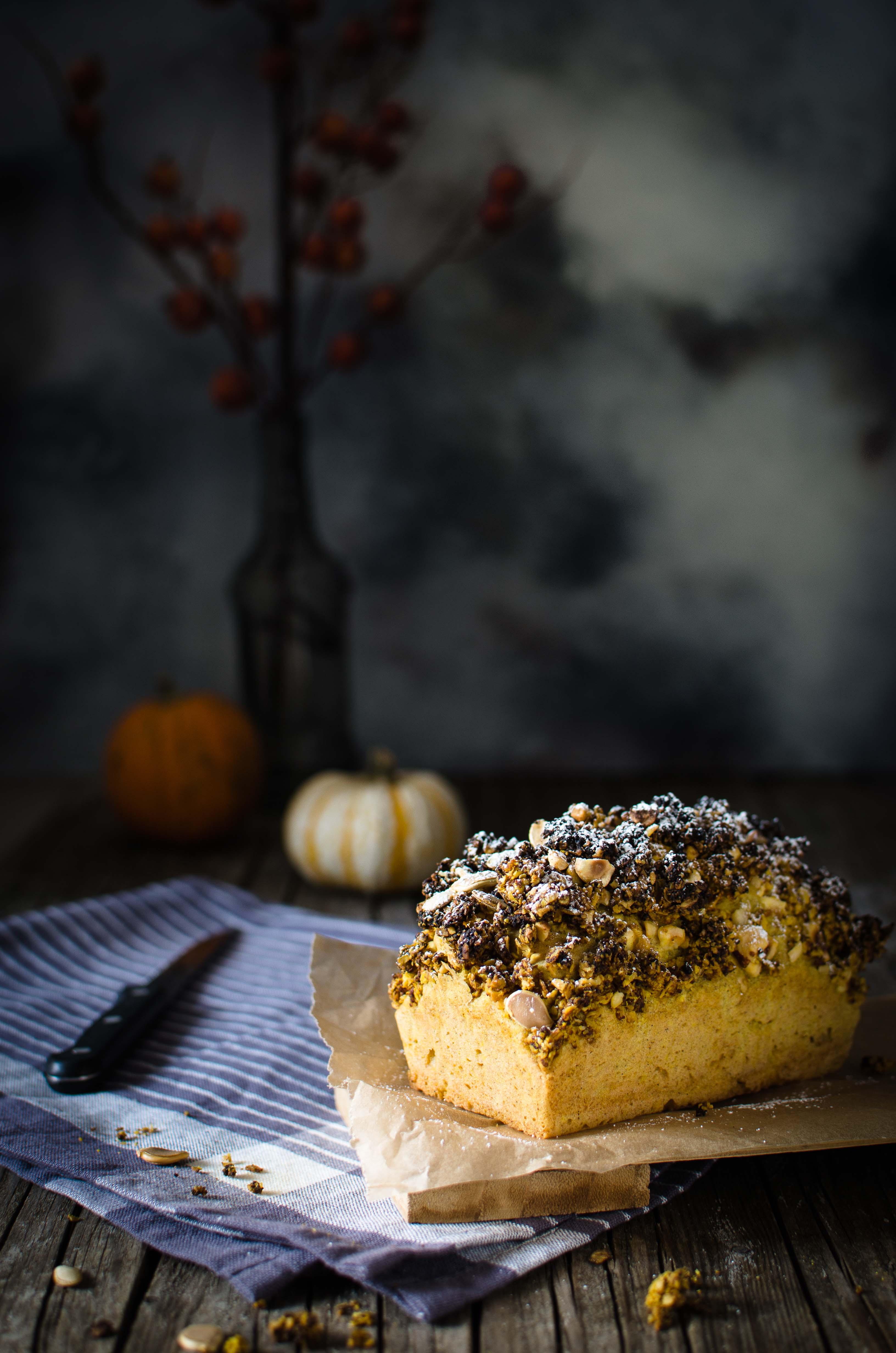 cake-zucca-crumble-speziato Plum cake con crumble alla zucca e spezie