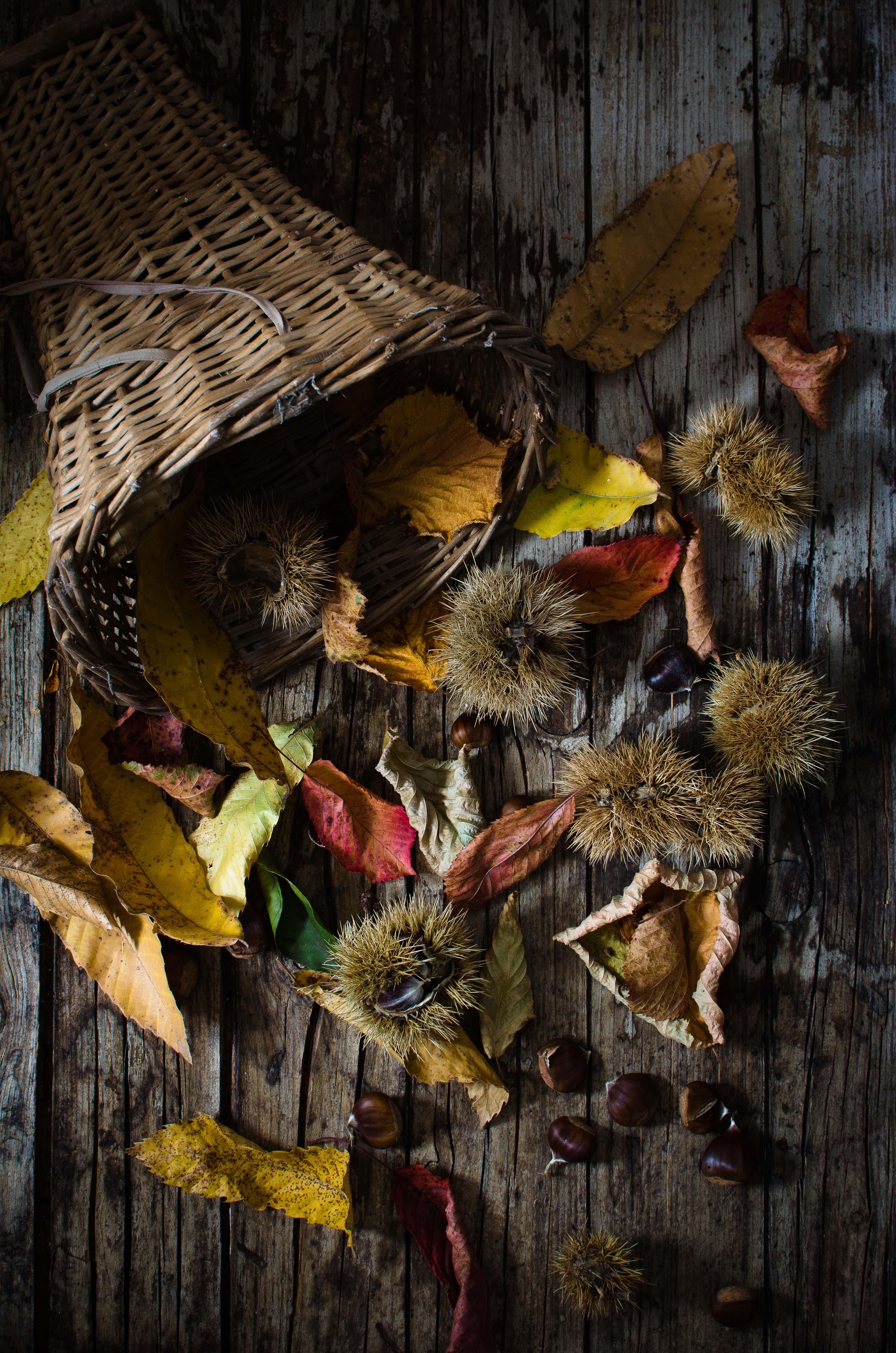 crumble-phillo-foglie Crumble di pasta fillo con mele, castagne e cioccolato