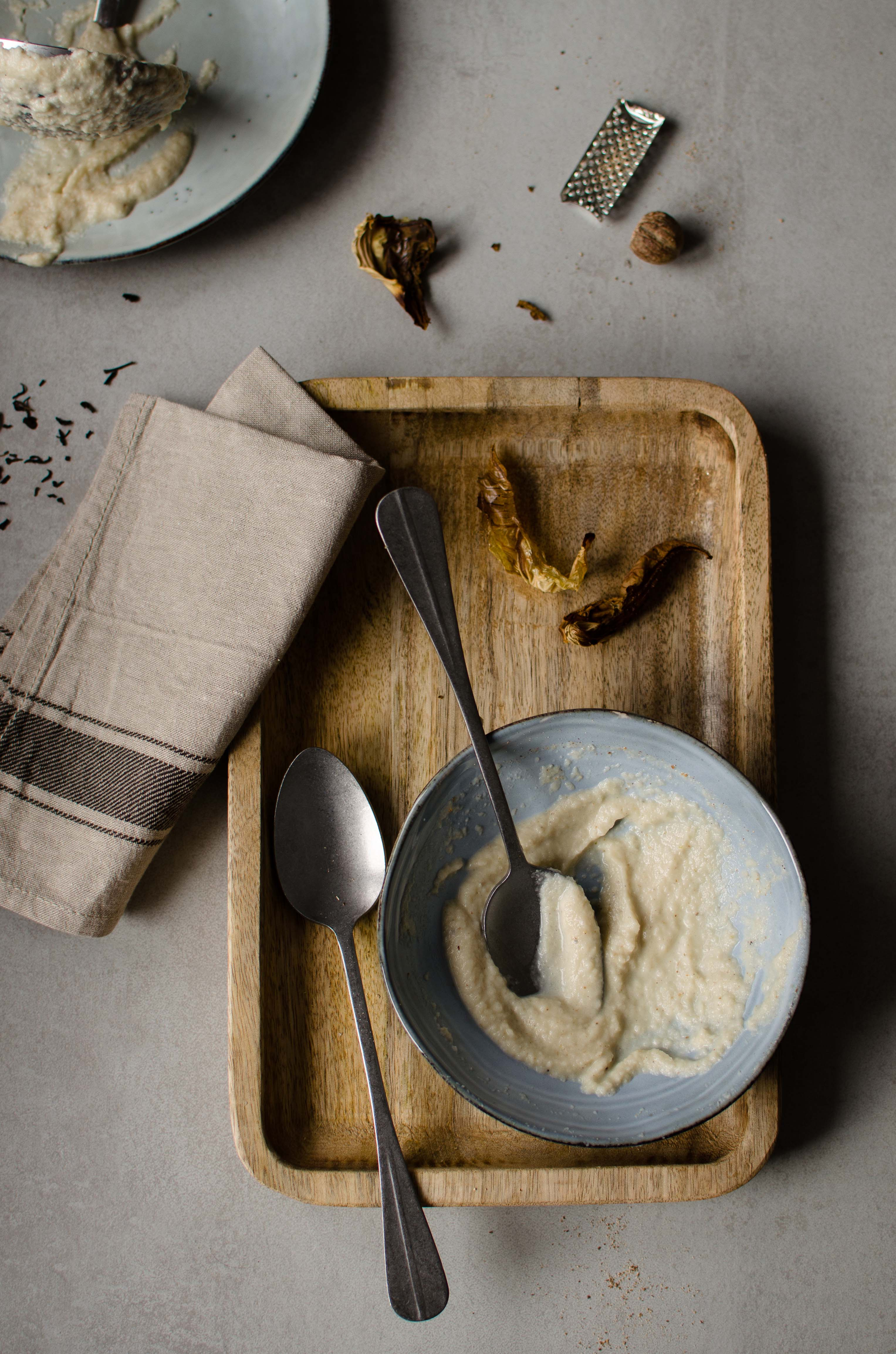 crema-cavolfiore Zuppa di cavolfiore e pollo affumicato
