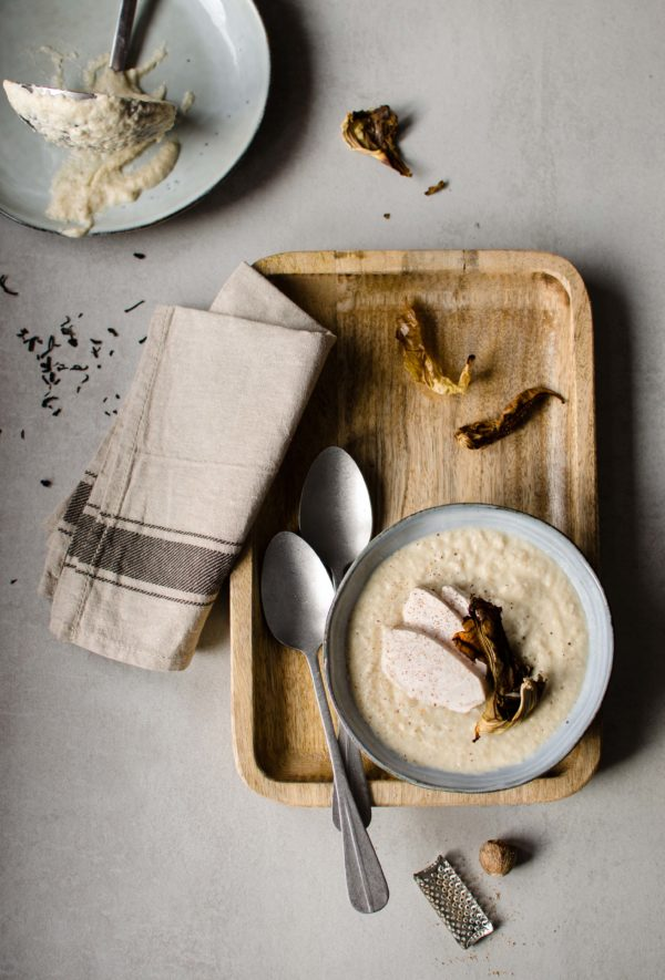 zuppa-cavolfiore_-600x885 Zuppa di cavolfiore e pollo affumicato