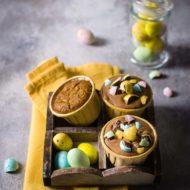 Cupcakes grano saraceno, crema al cioccolato fondente