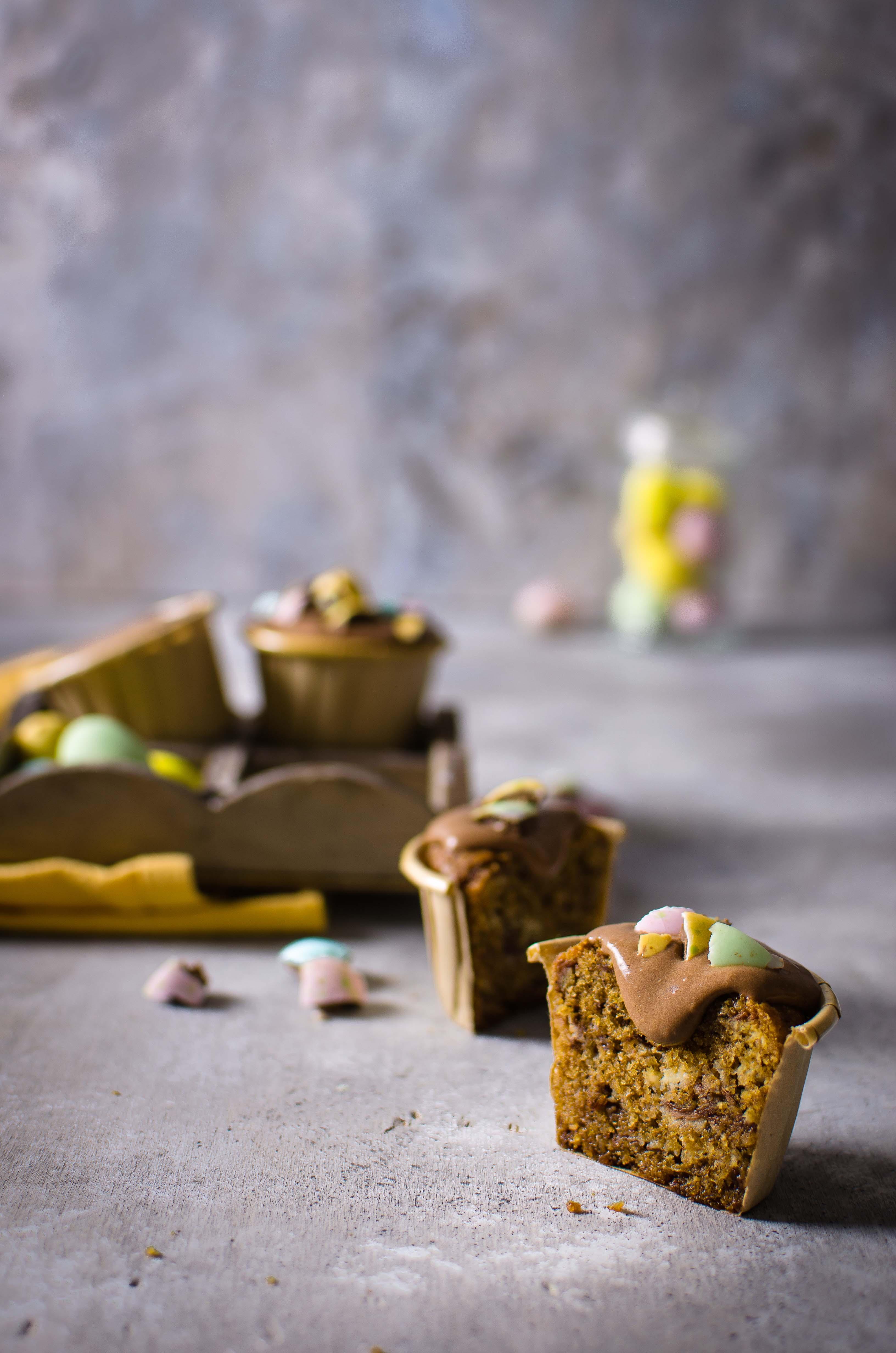 cupcakes_pasqua Cupcakes grano saraceno, crema al cioccolato fondente