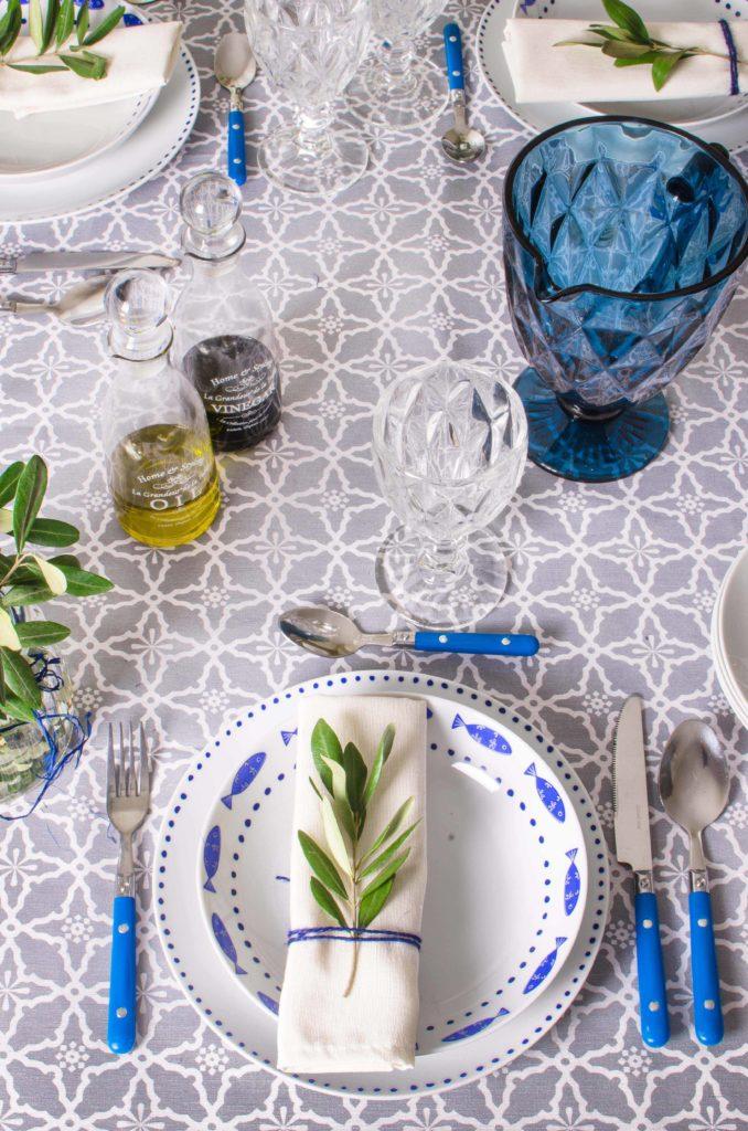 La mia tavola blu mediterraneo