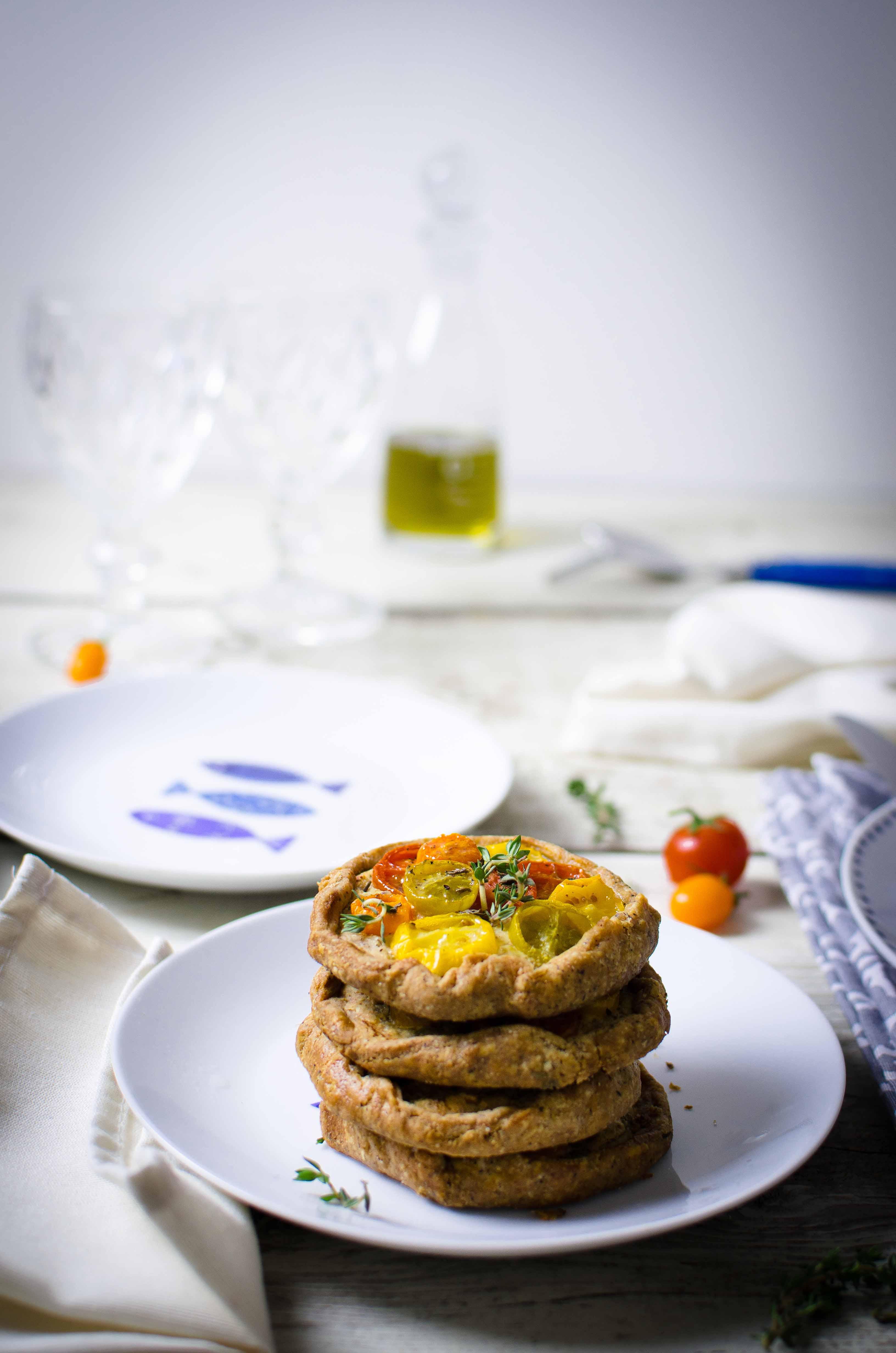 tartelette-formaggio-timo Tartelette rustiche ai pomodori