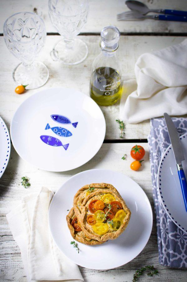 tartelette-pomodori-timo-600x906 Tartelette rustiche ai pomodori