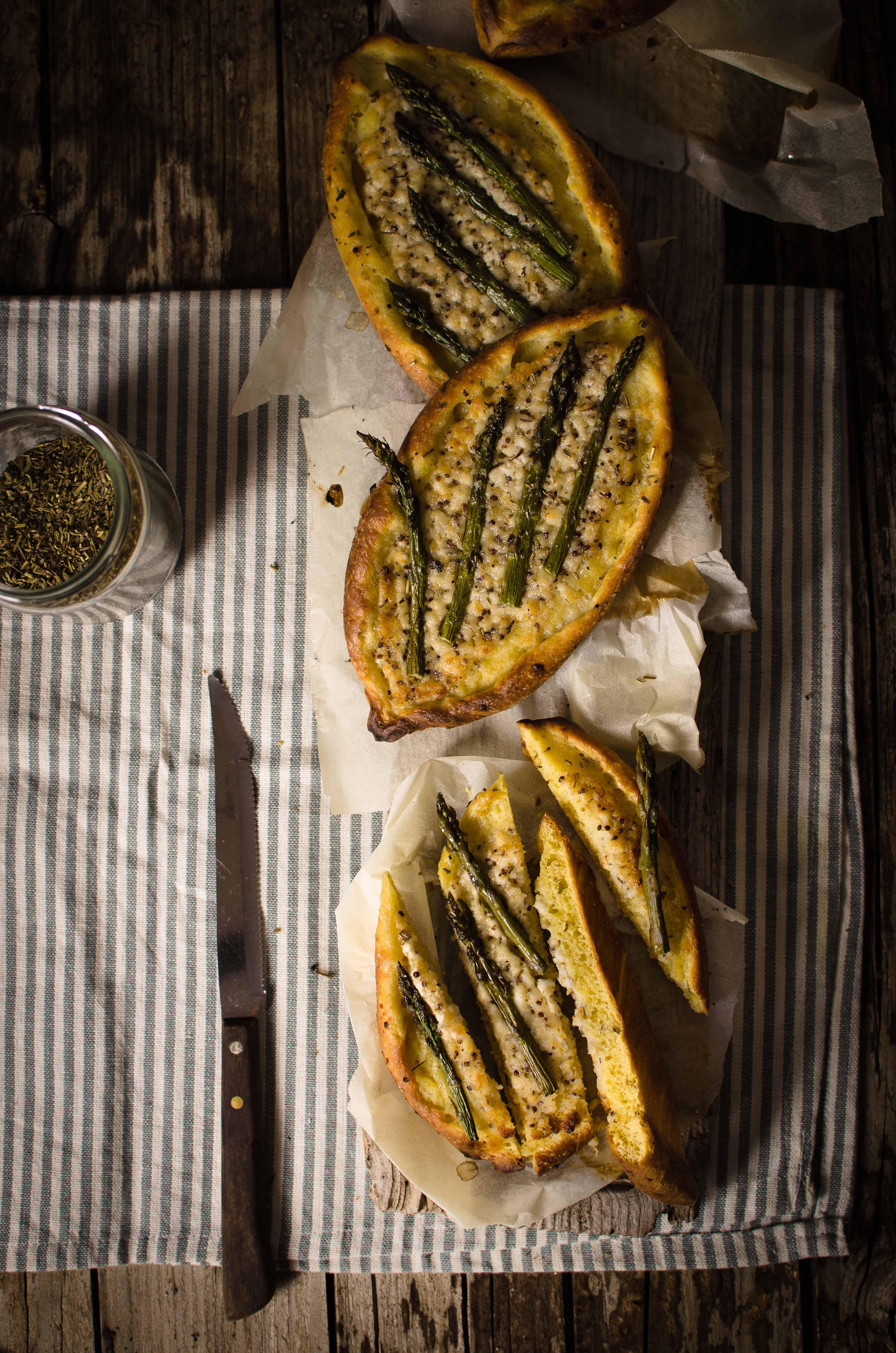 barchette-pasta-brioche-salata Barchette con asparagi e formaggio di capra