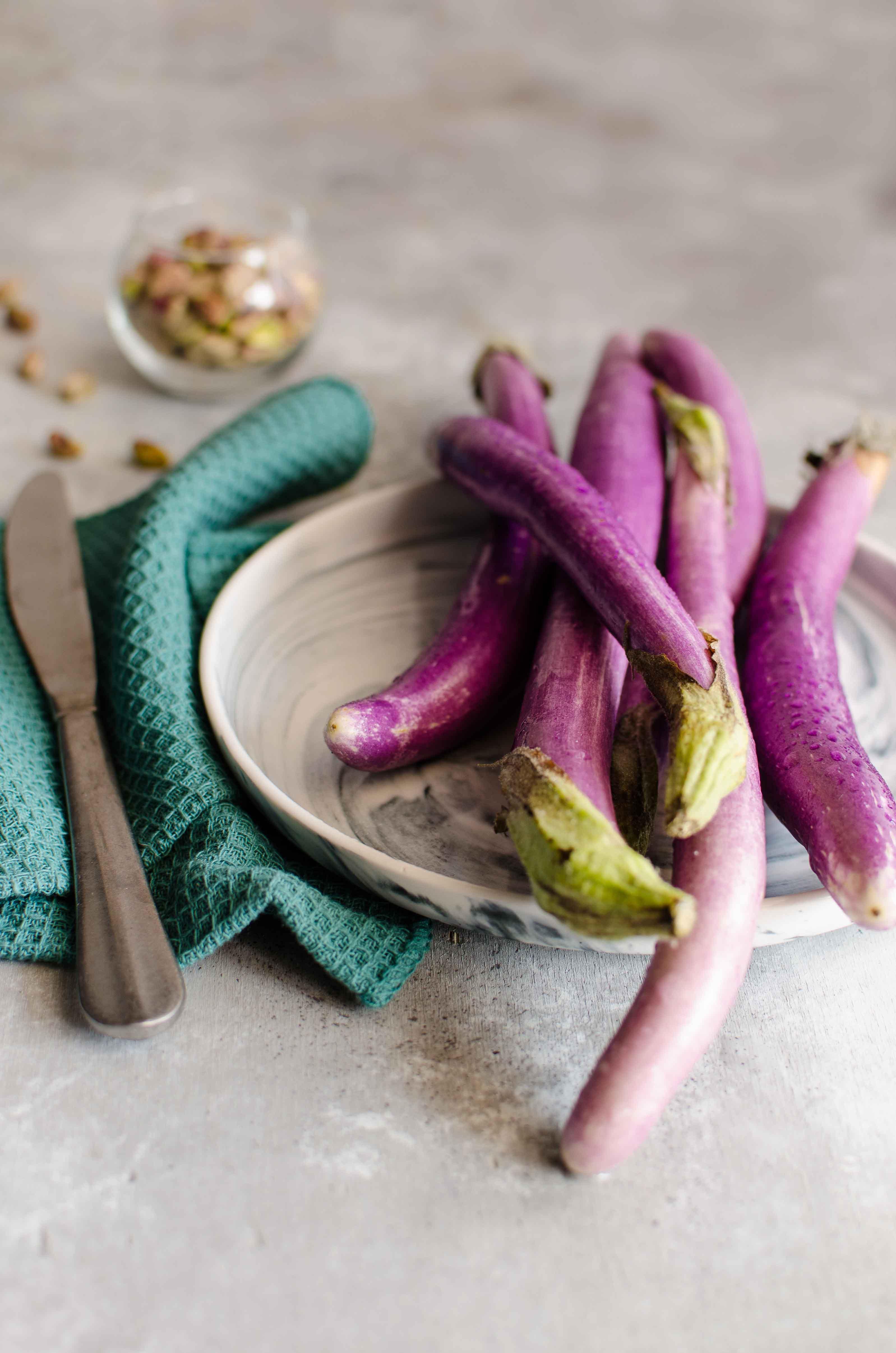 melanzane-perline Focaccia con pistacchi e melanzane perlina